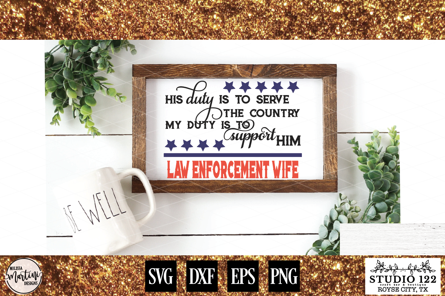 Law Enforcement Wife Police Officer example image 1