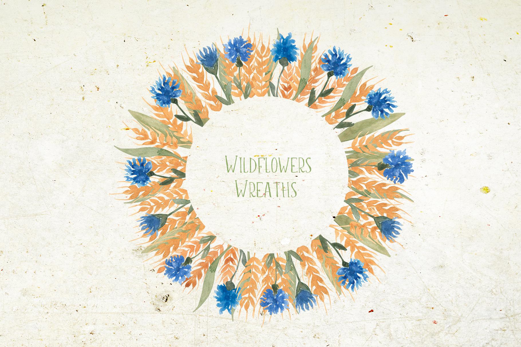 Wildflowers wreaths example image 1