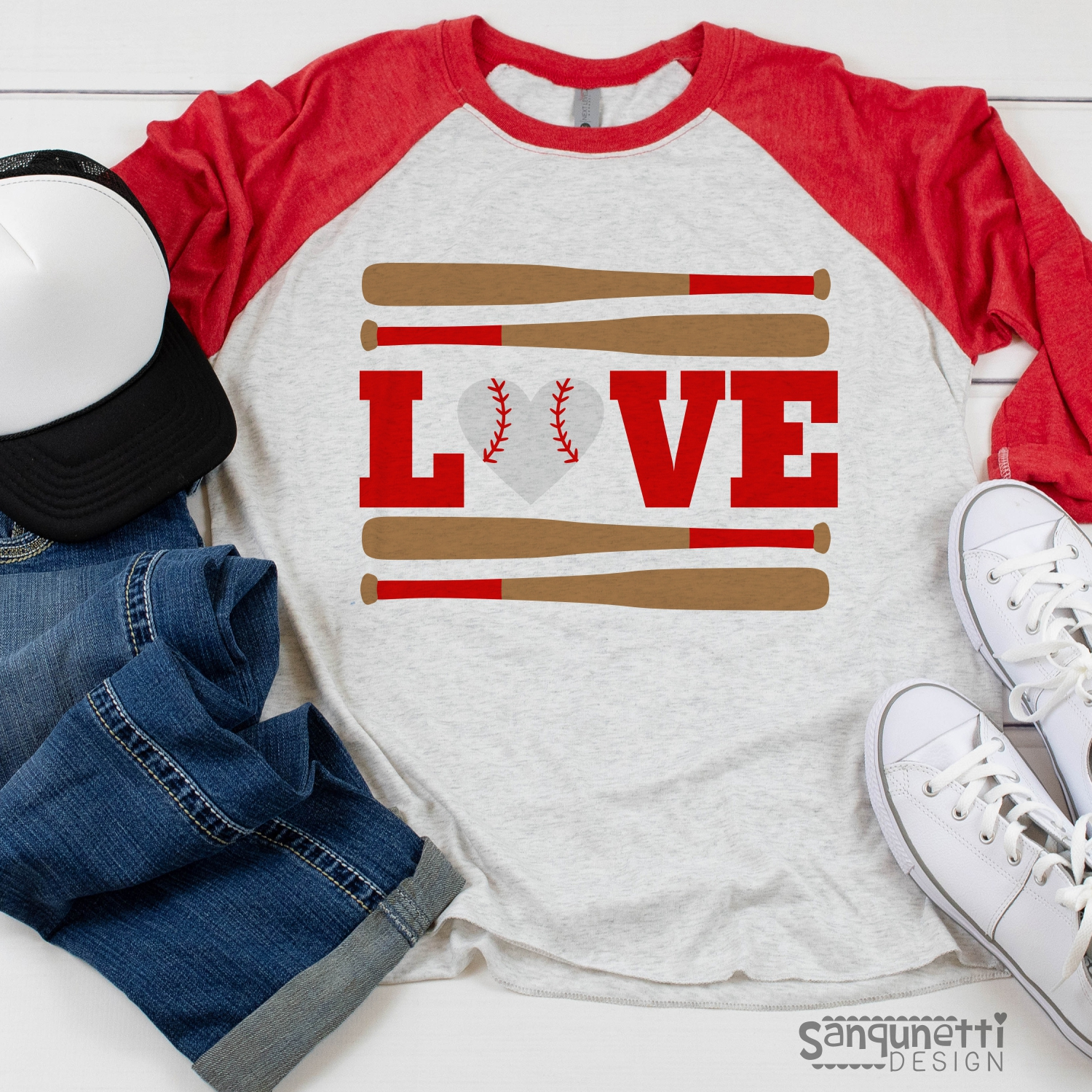 Love Baseball SVG file, spring sports cutting files example image 2