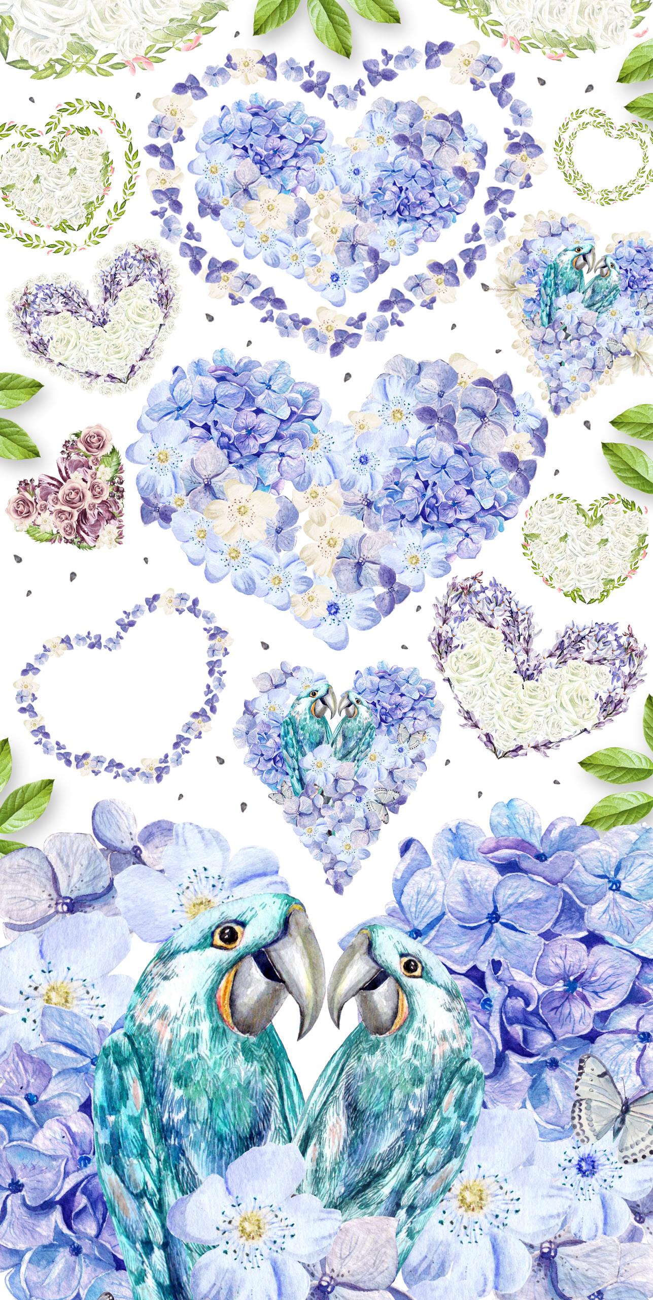 29 watercolor hearts example image 2