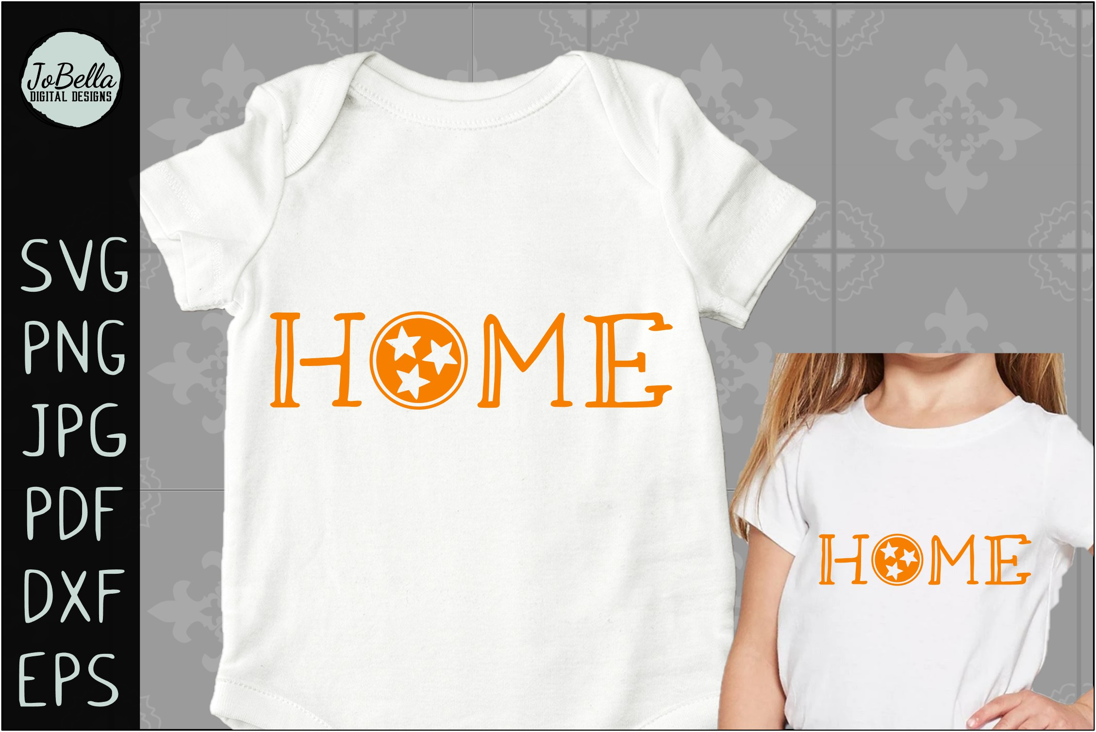 Home with Tennessee TriStar SVG, Sublimation PNG & Printable example image 2