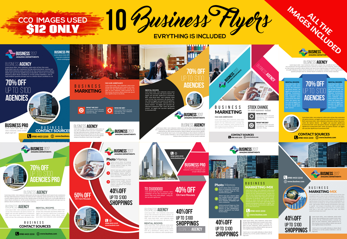 10 Corporate Flyer Templates Bundle example image 1