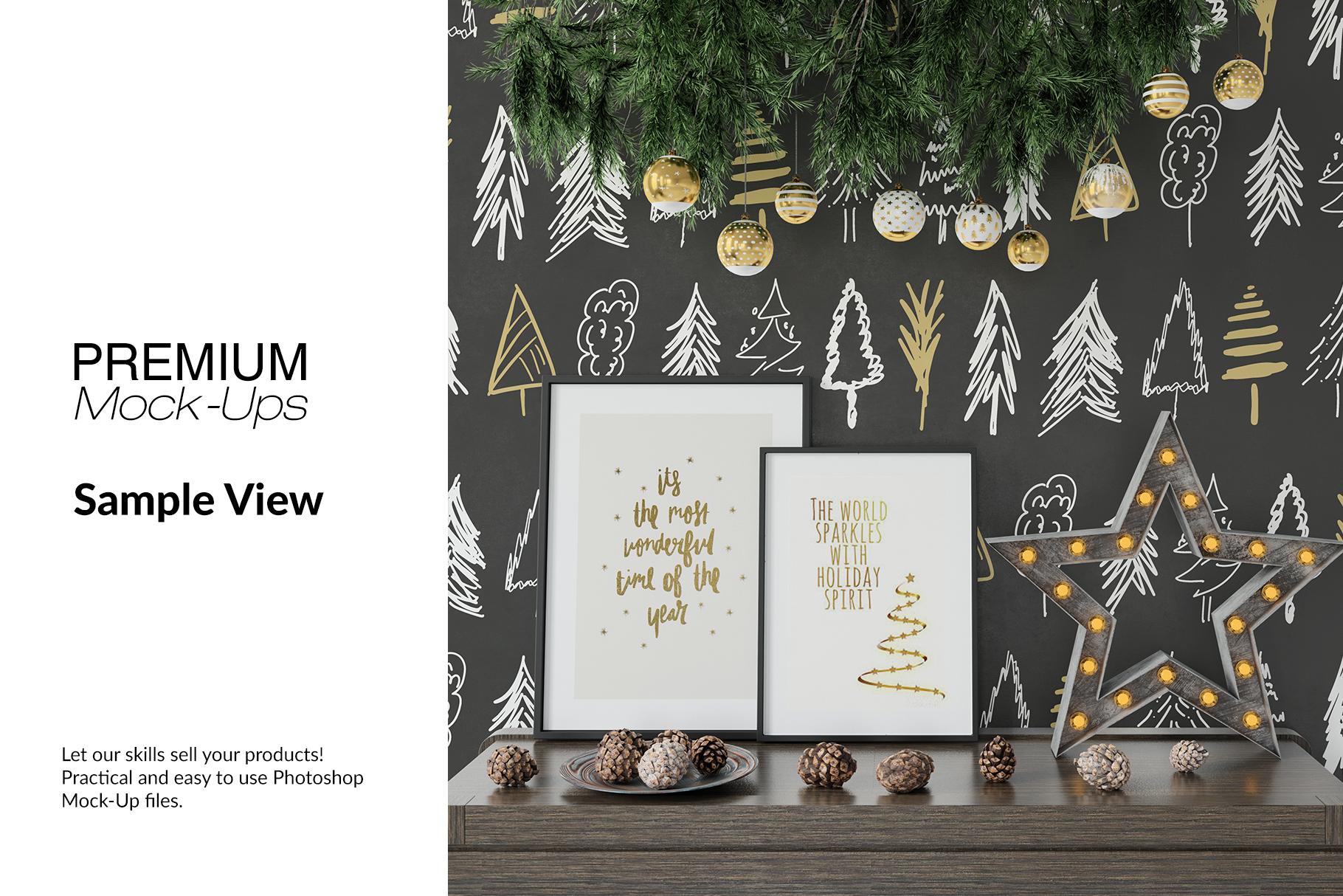 Christmas Frames & Wall Set example image 10