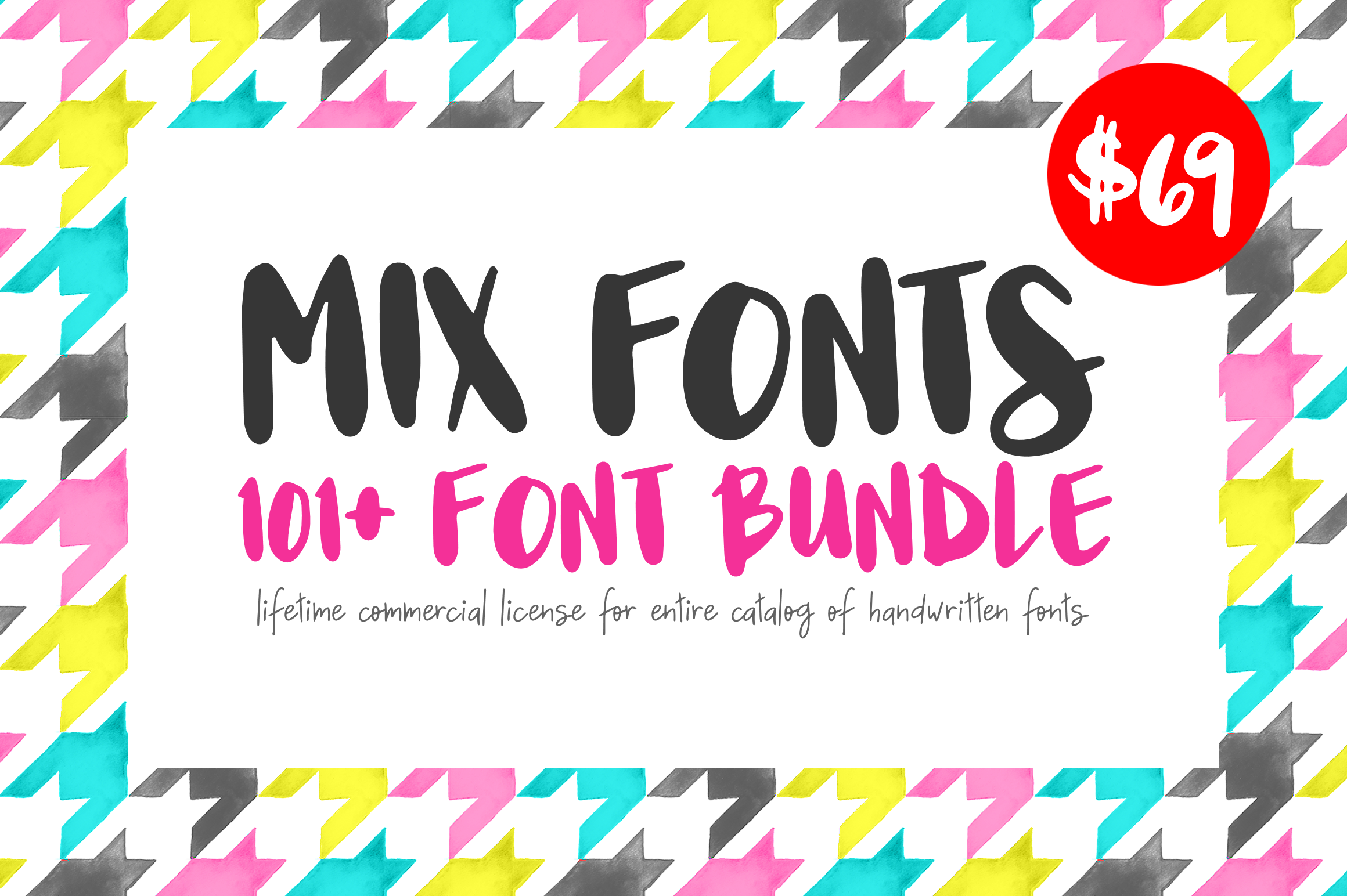 Mix Fonts - 101 Plus Font Bundle example image 1