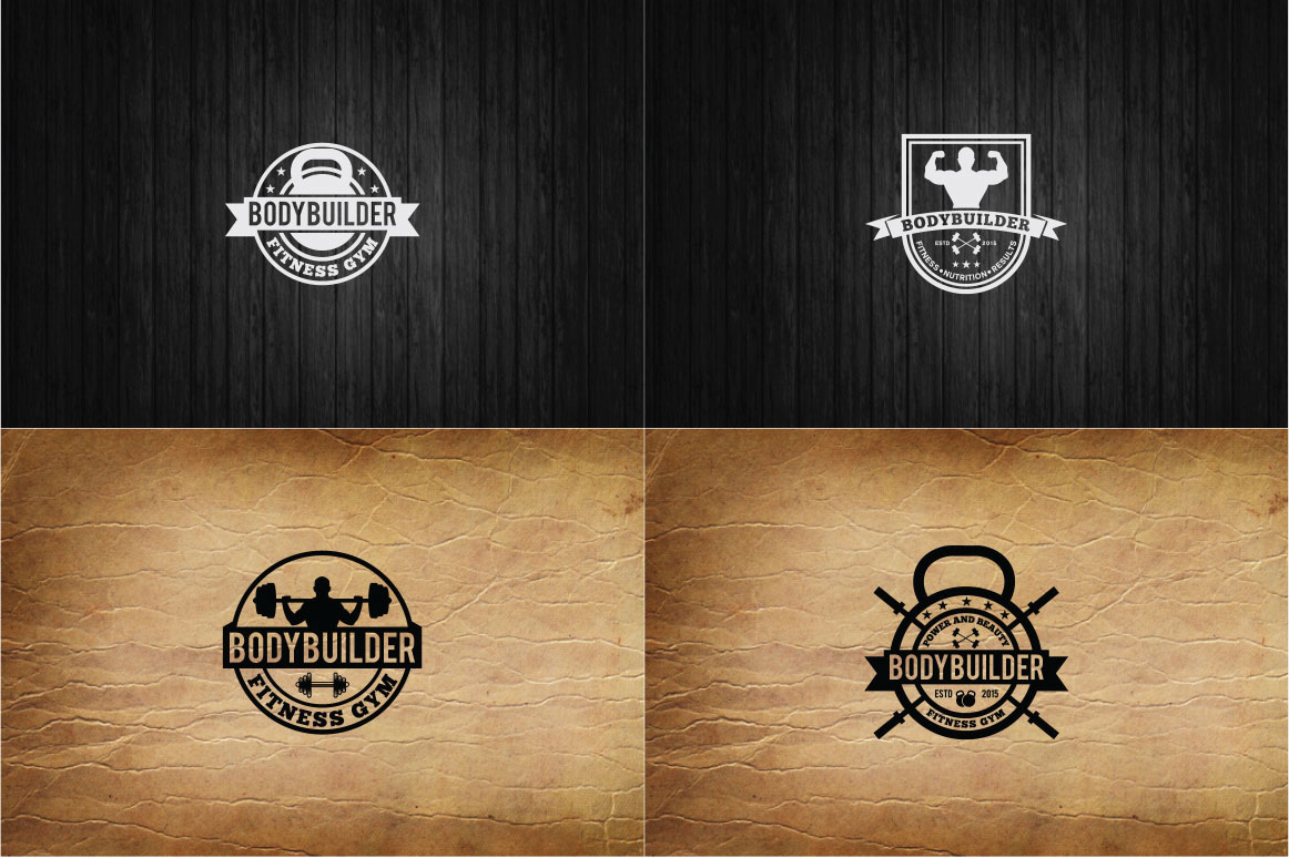 83 fitness gym bundle Logos Labels & Badges example image 13