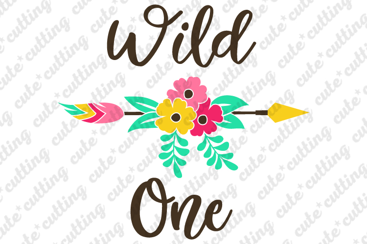 Wild one svg, first birthday svg, dxf, png, pdf, jpeg example image 1