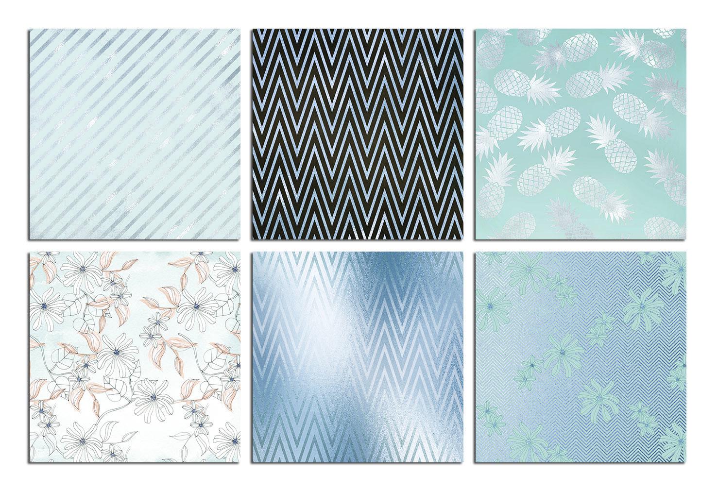 Blue Digital Paper example image 3