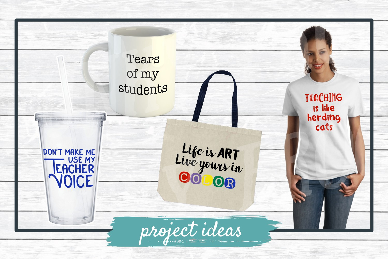 Teacher Designs Bundle- Teacher SVG Cut Files example image 2
