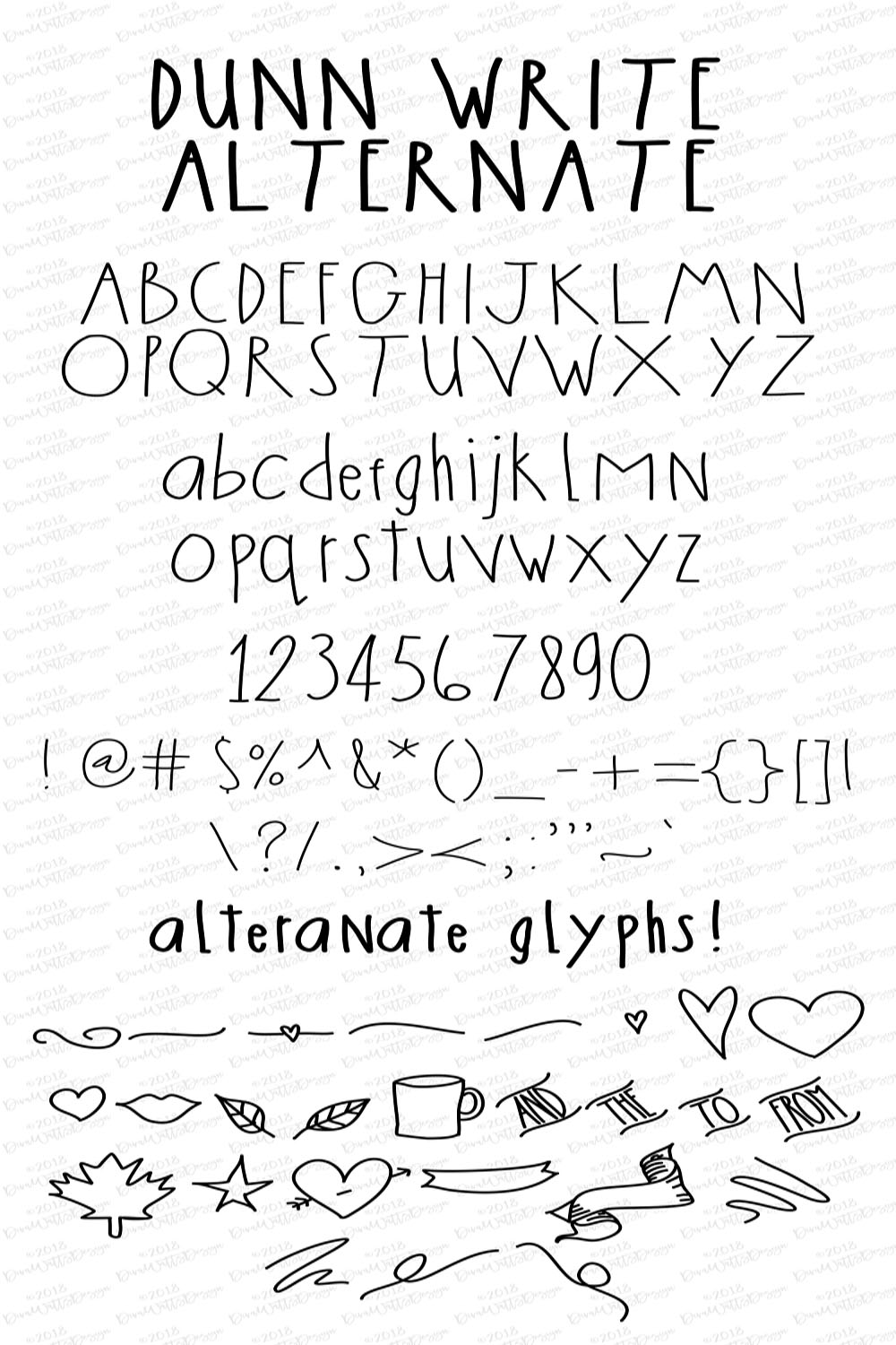 The Dunn Write Farmhouse Skinny Font Collection example image 2