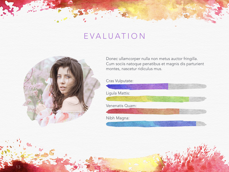 Watercolor PowerPoint Template example image 14