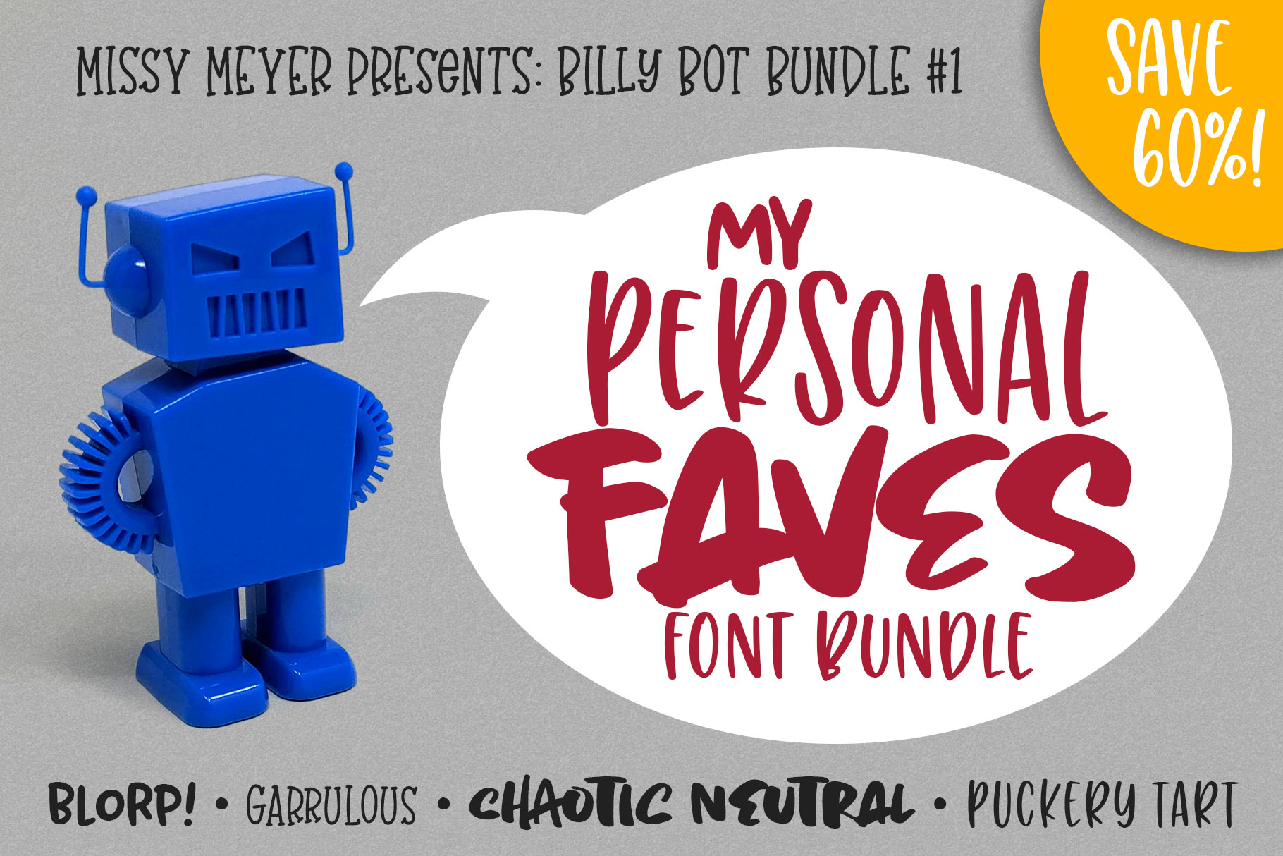 Billy Bot Bundle 1 - My Personal Faves Font Bundle! example image 1