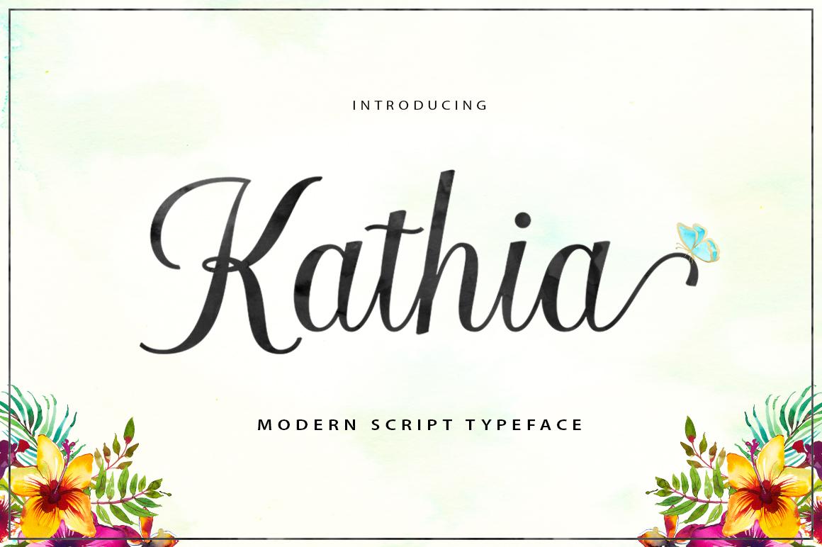 Kathia Script example image 7