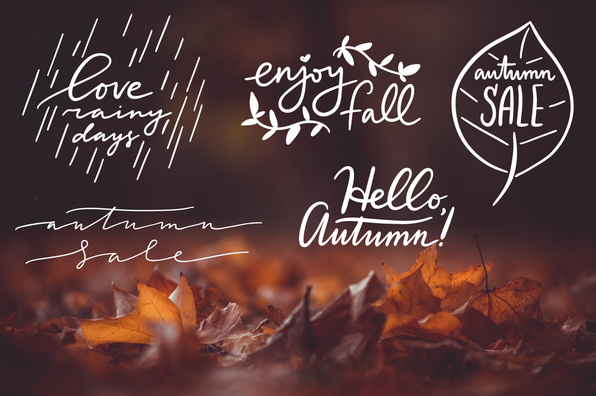 Lettering Pack about Autumn example image 2