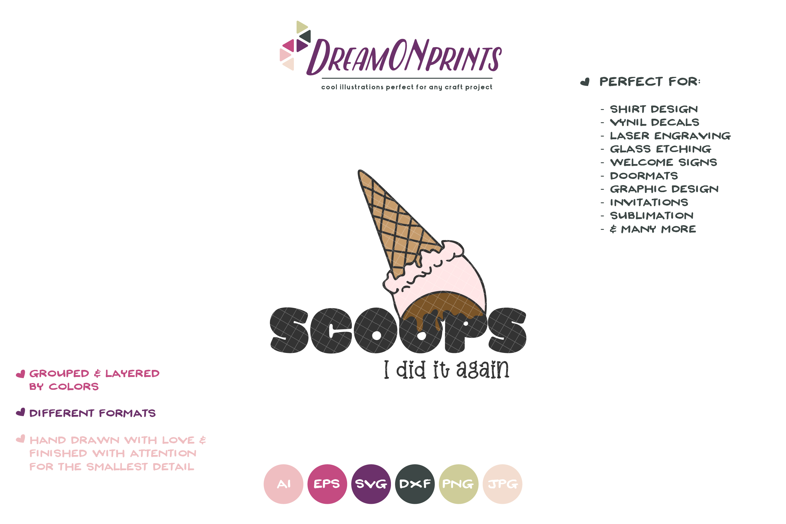 Scoops I Did it Again | Funny Ice Cream SVG | Fun Summer SVG example image 2