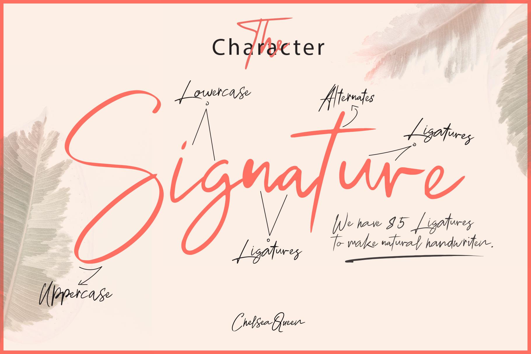 Chelsea Queen || Elegant Signature example image 3