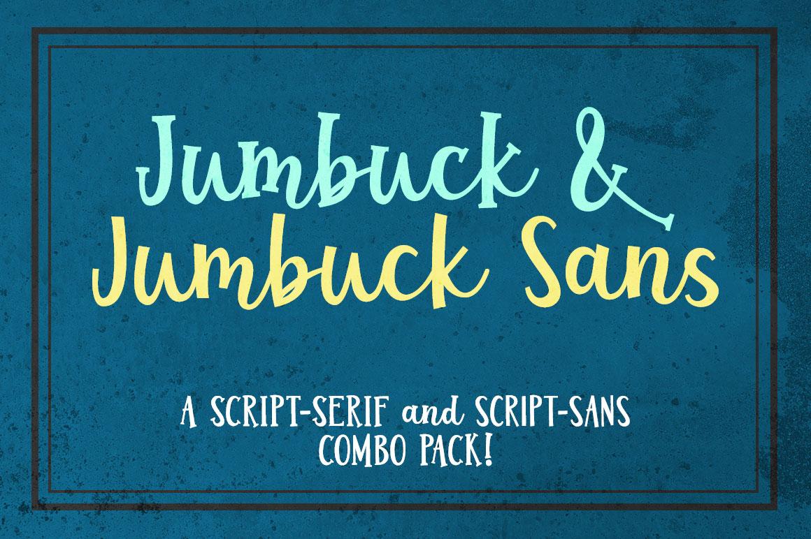 Jumbuck & Jumbuck Sans - a fun font duo! example image 1