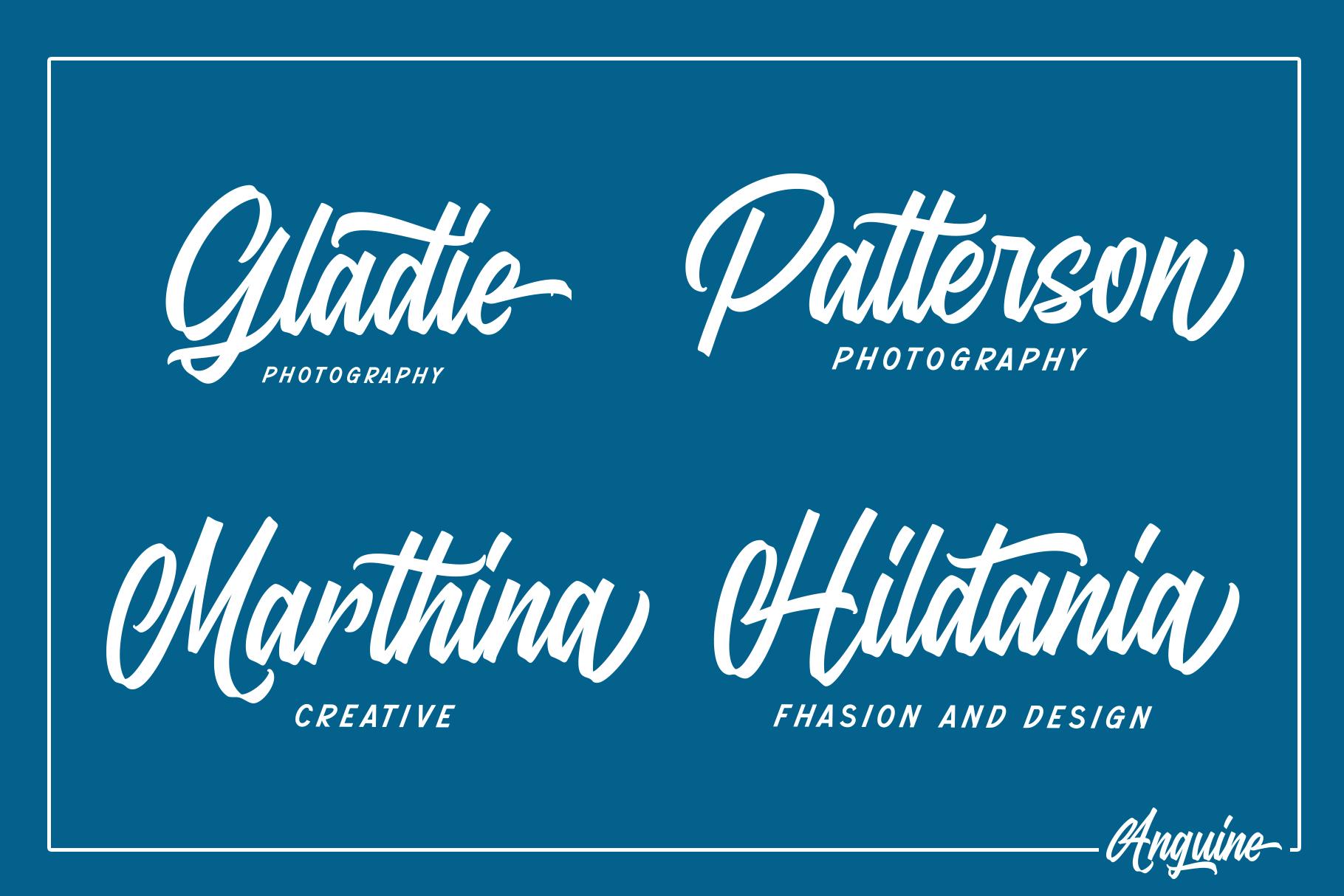 Anguine - Stylish Typeface example image 5