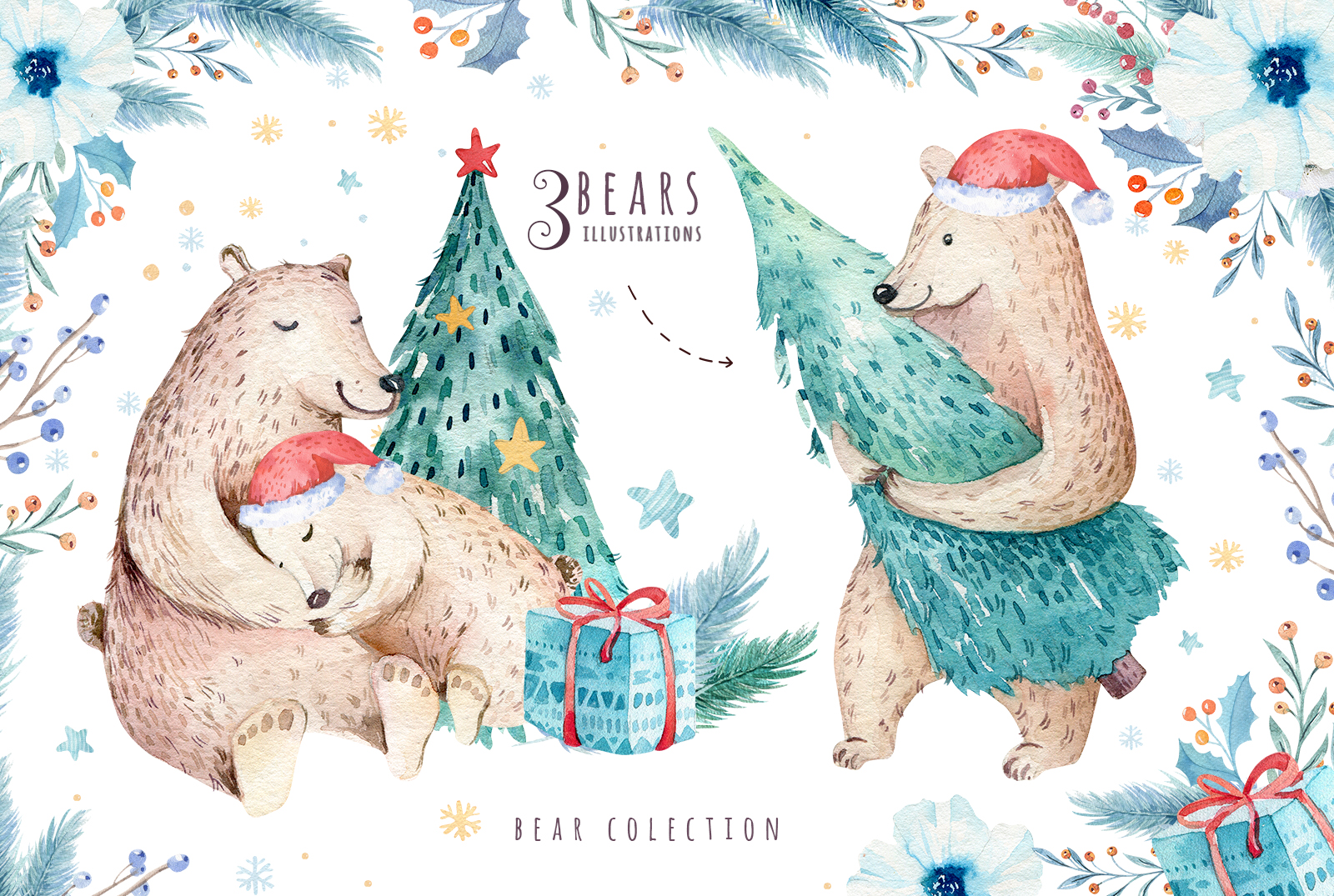 Christmas bear collection example image 5