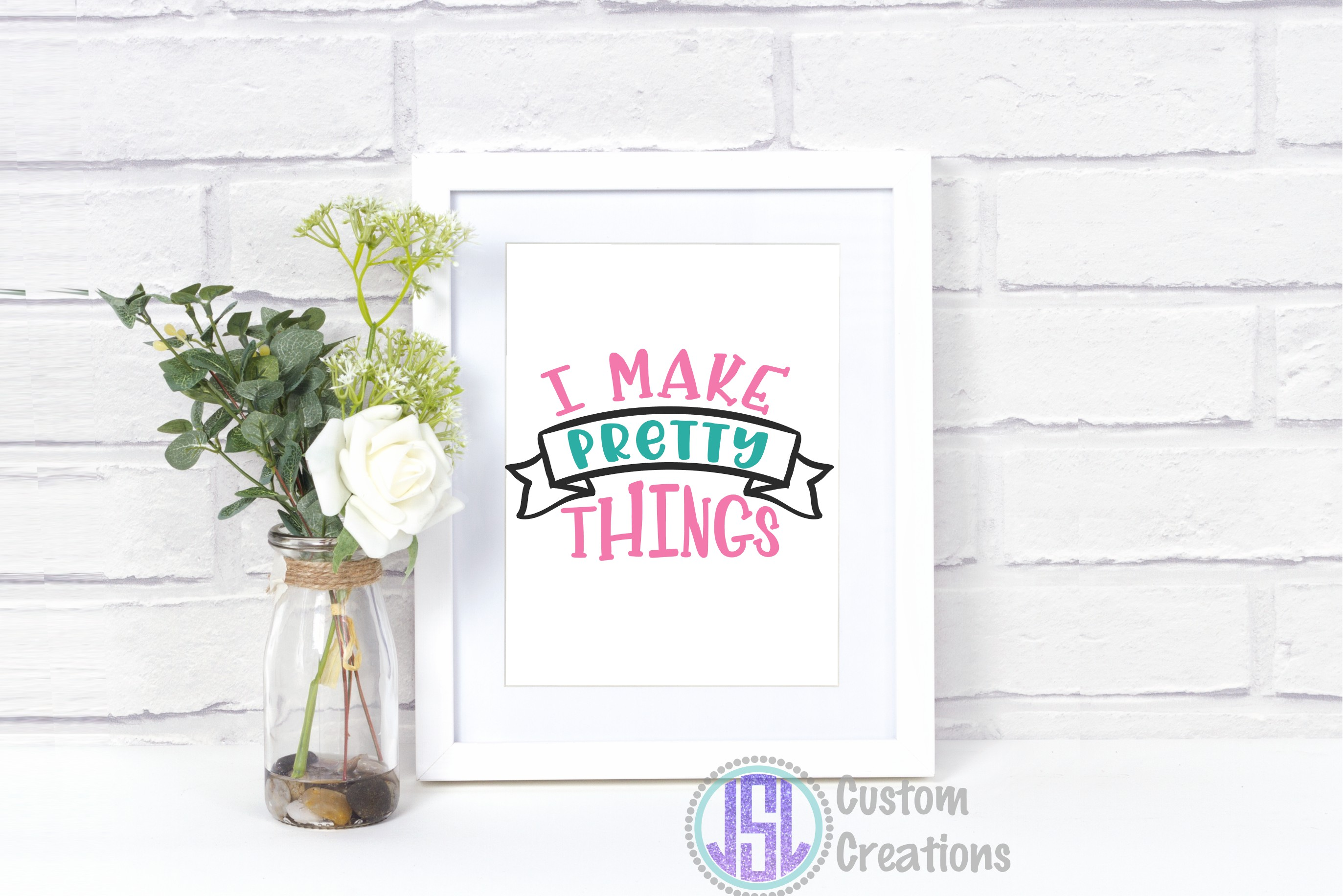 I Make Pretty Things| SVG DXF EPS PNG | Digital Cut File example image 2