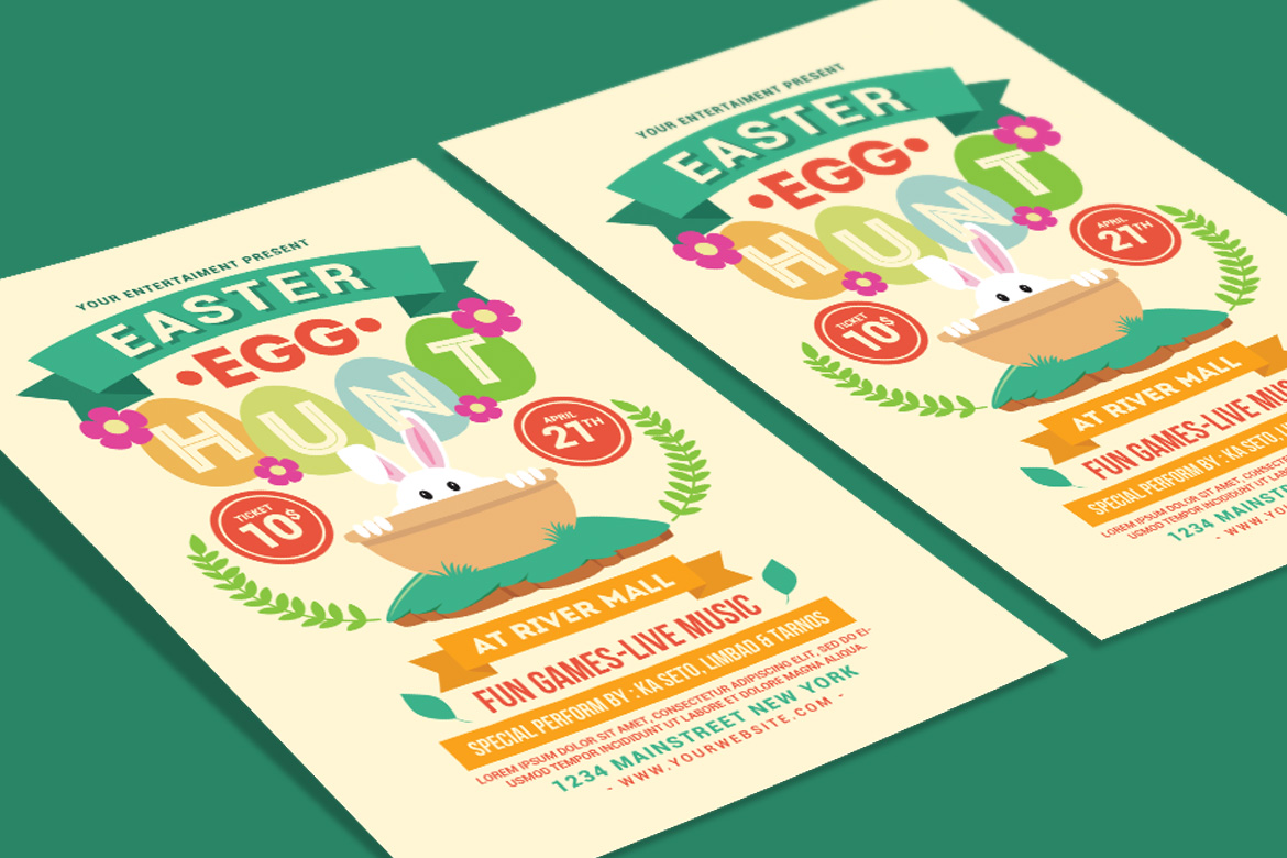 Easter Egg Hunt Flyer example image 3