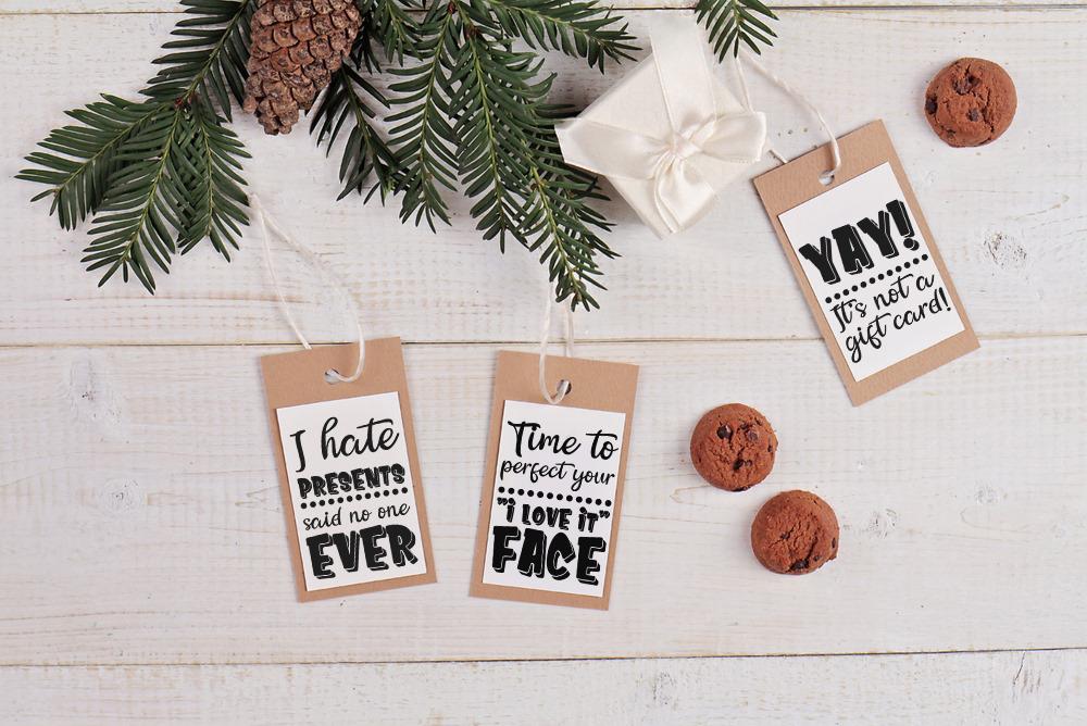 Funny Christmas Tags SVG Bundle example image 2