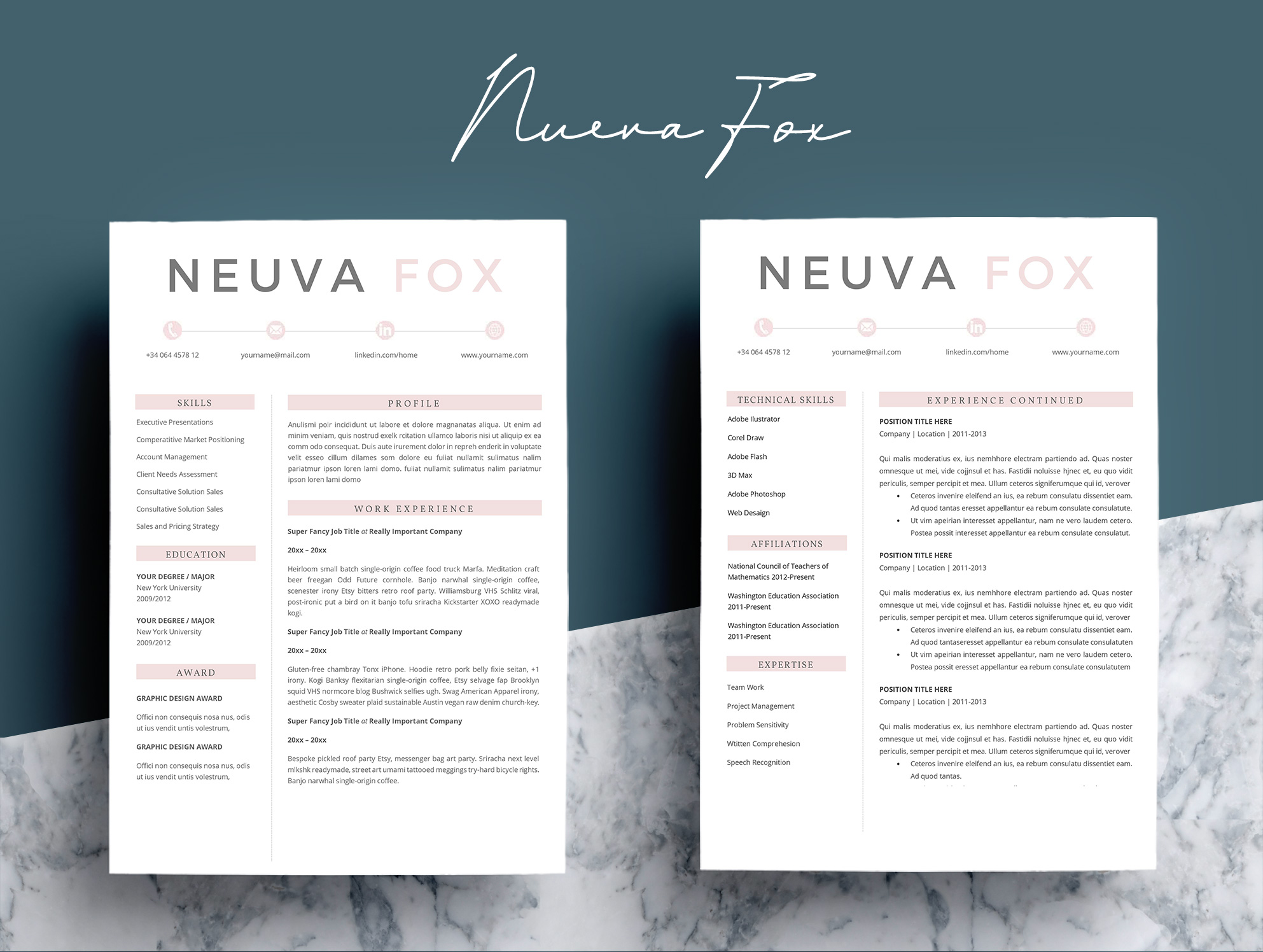 Creative  Resume Template 4 Pages example image 3
