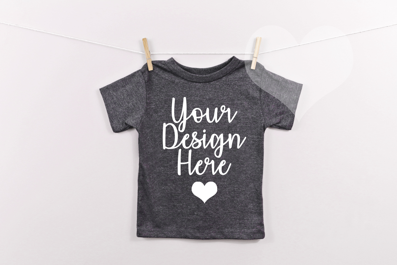 Dark Grey Bella Canvas 3001T, Unisex T-shirt Mockup, Kids example image 1