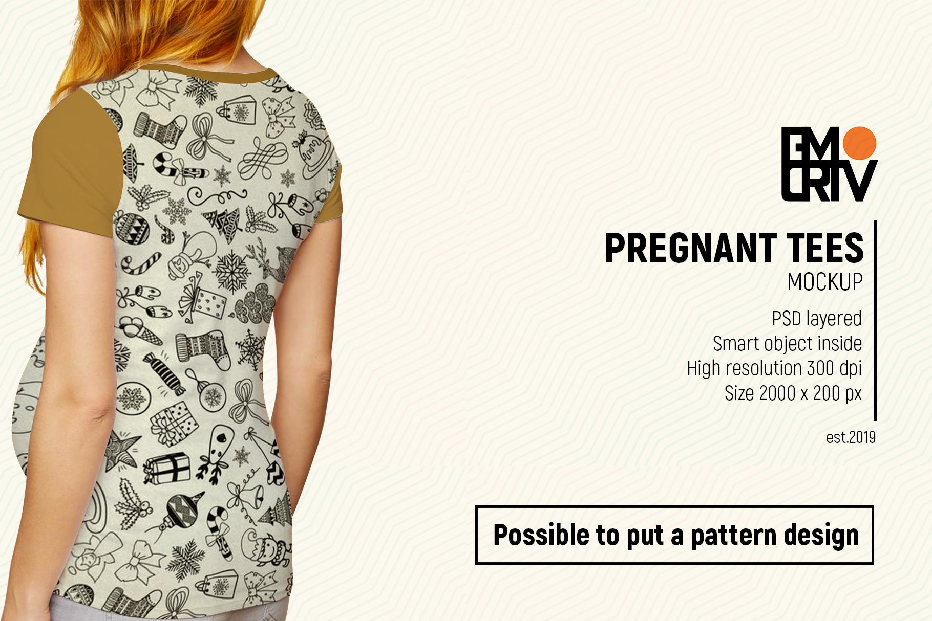 Pregnant Tees Mockup example image 7