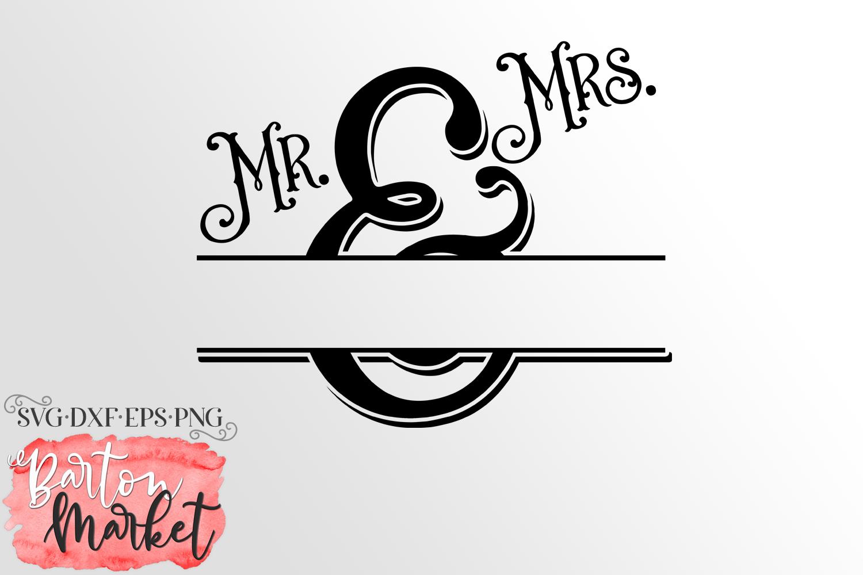 Mr & Mrs Monogram SVG DXF EPS PNG example image 2