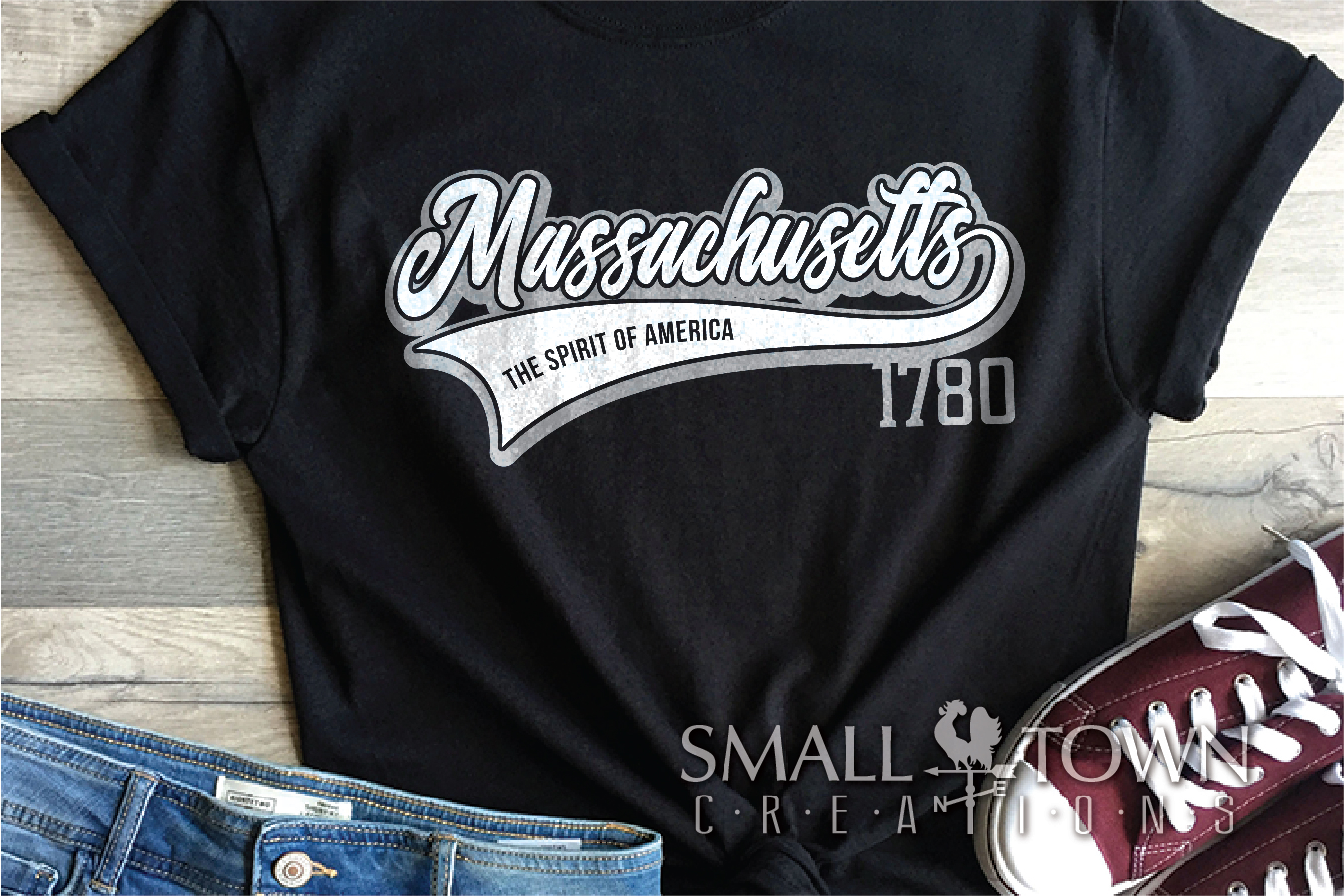 Massachusetts, Spirit of America, Logo, PRINT, CUT & DESIGN example image 2