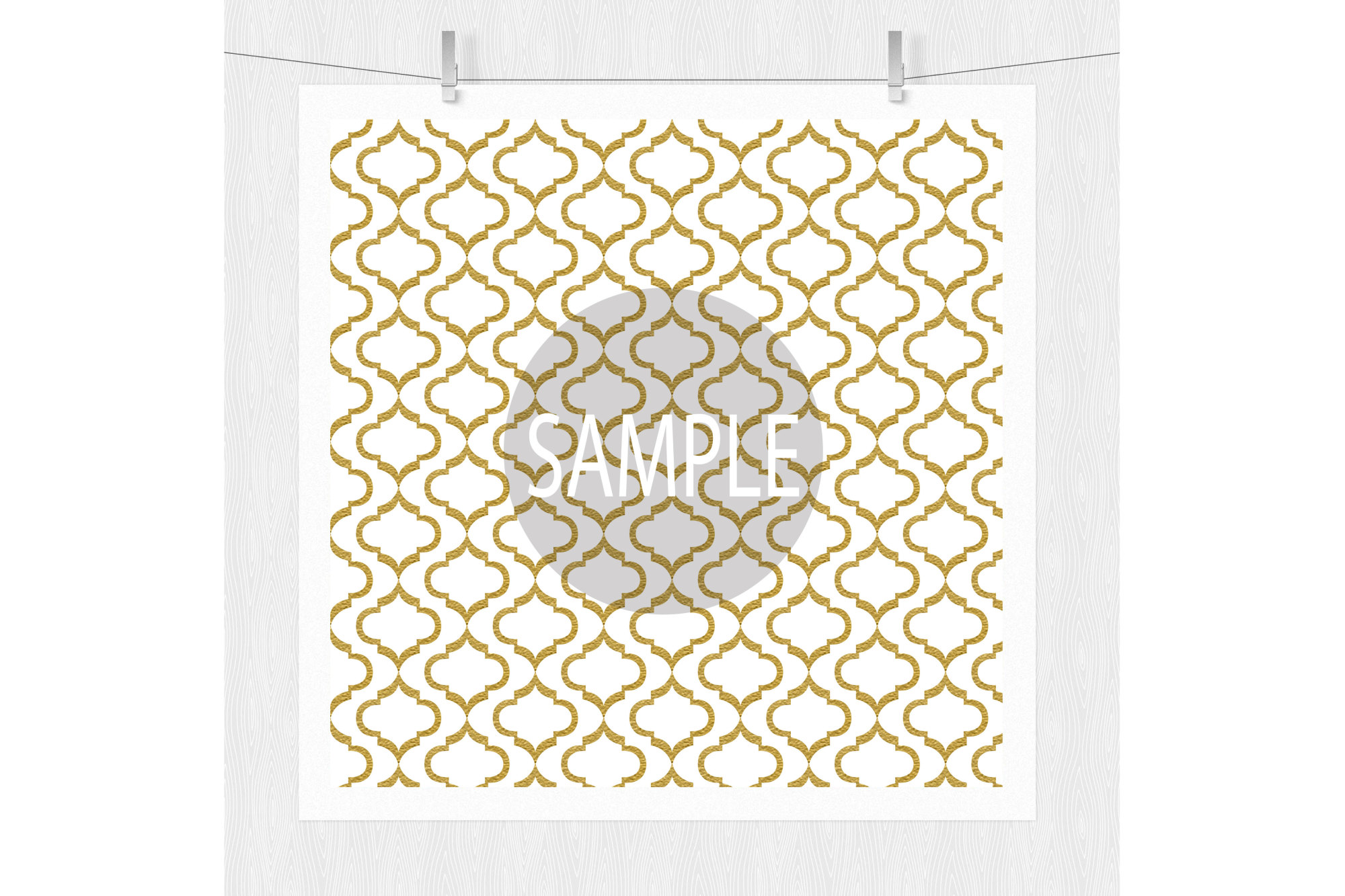 Black and Gold Digital Paper Patterns example image 4