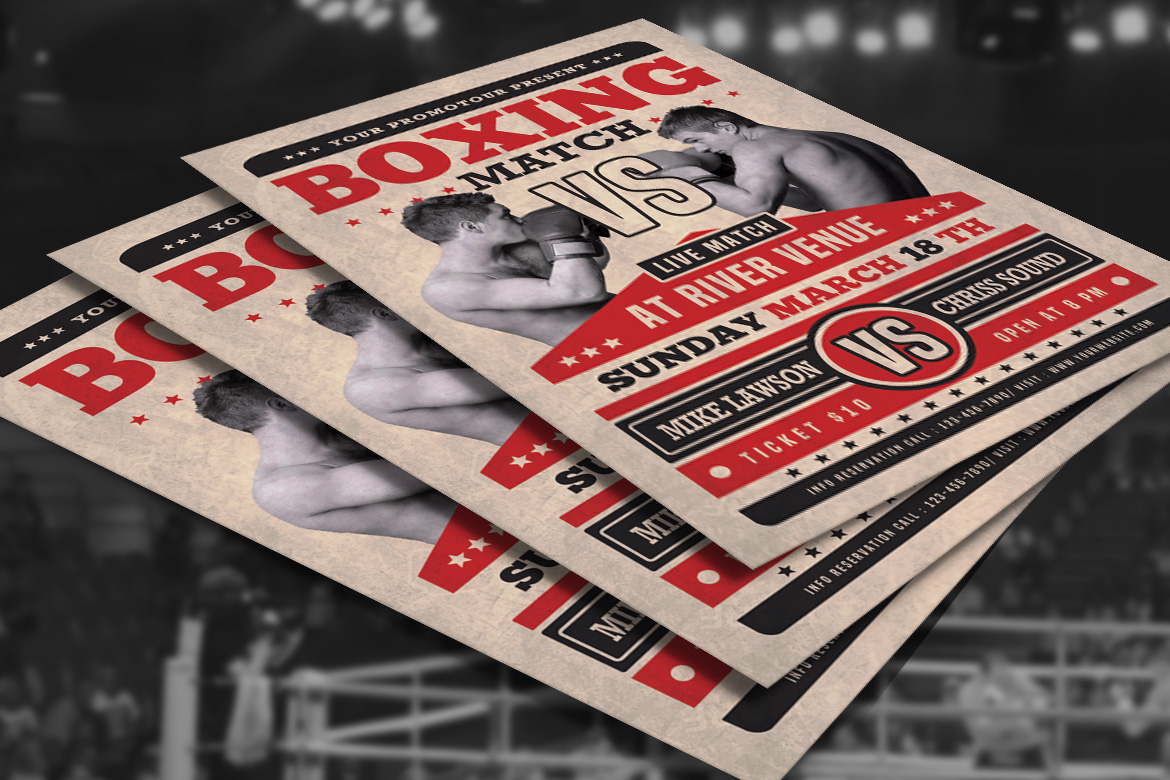 Boxing Match Flyer example image 4