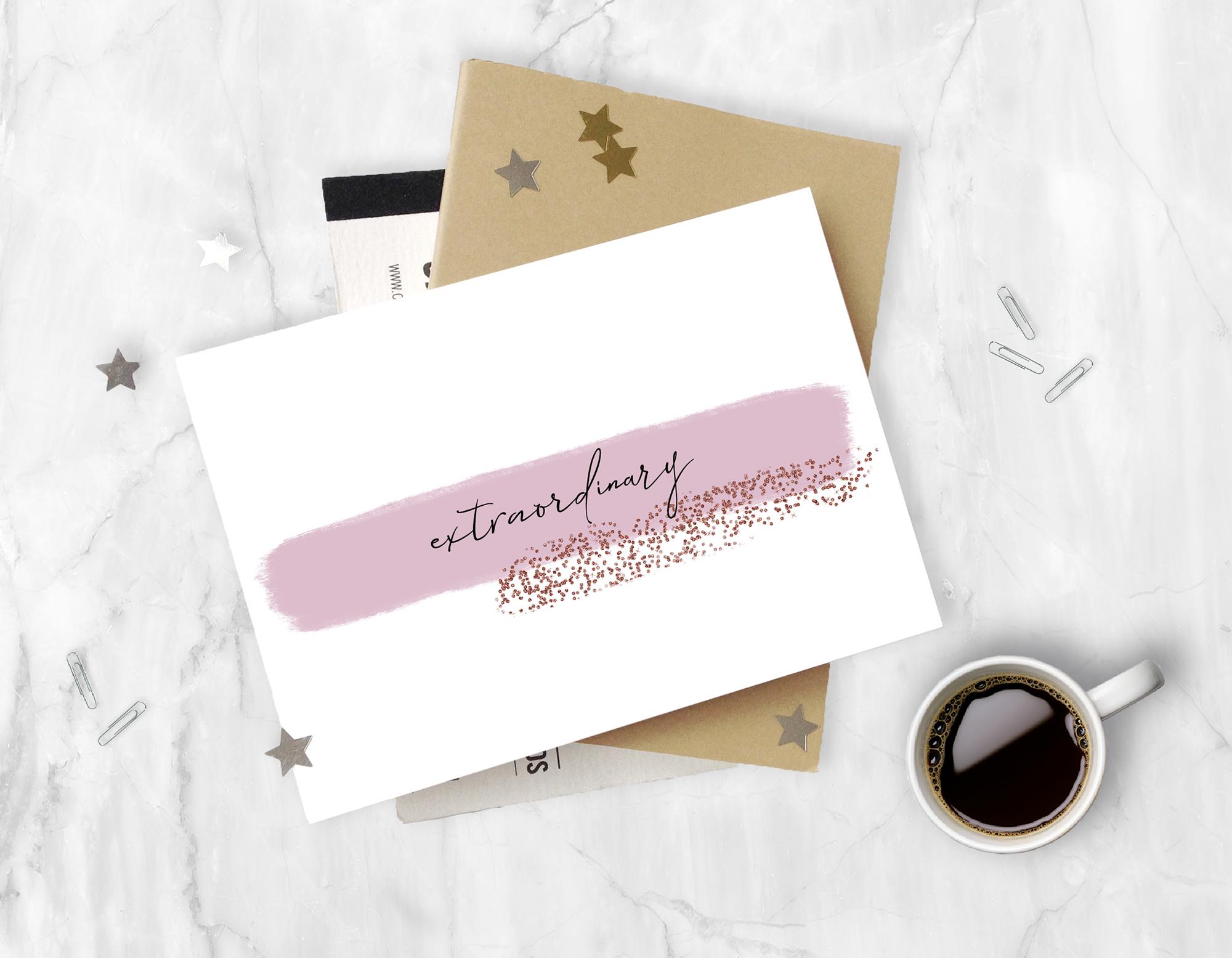 Brush Strokes Rose Gold Glitter | Elegant Clip Art example image 3