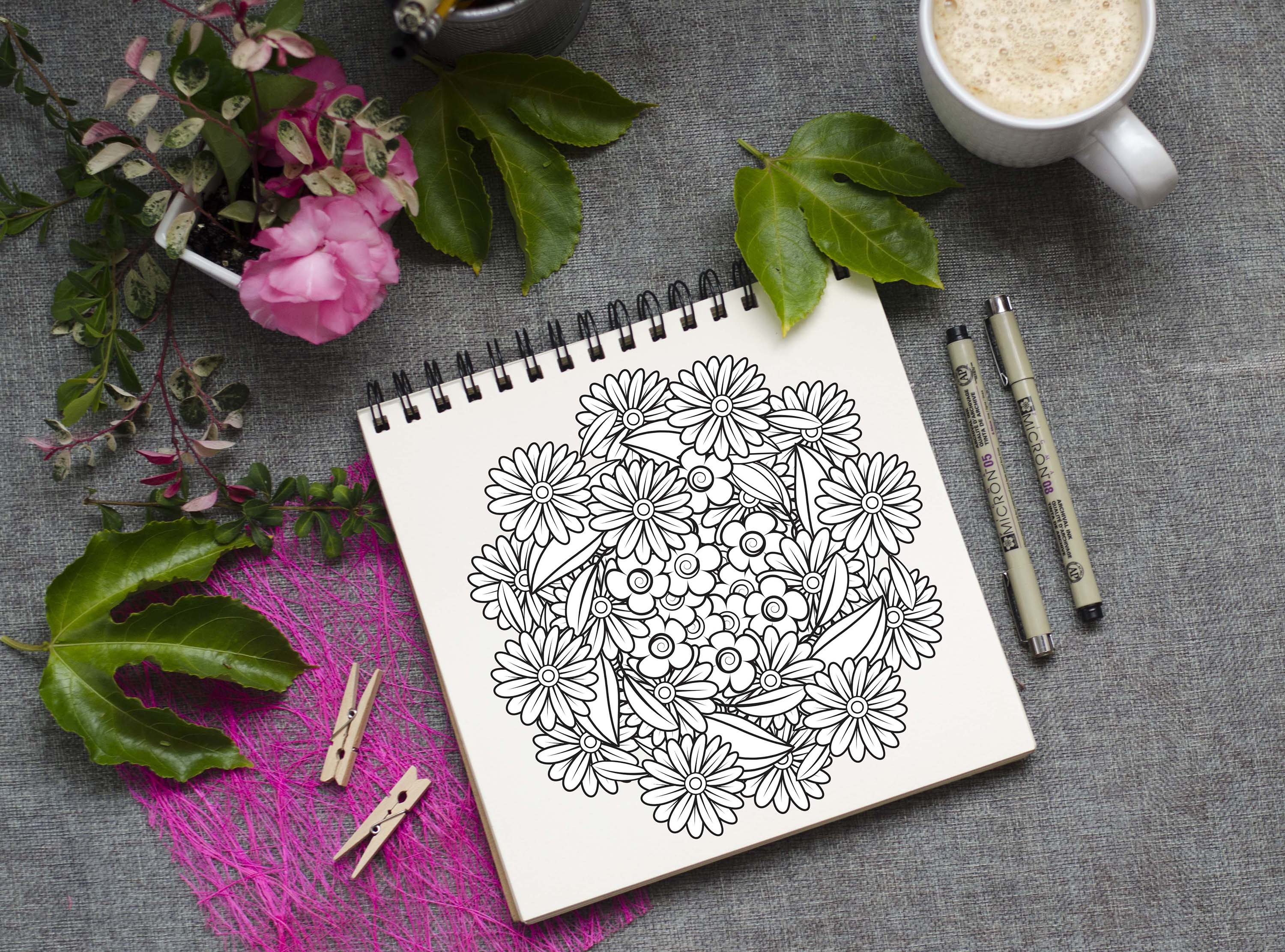 Floral Doodles Collection example image 9