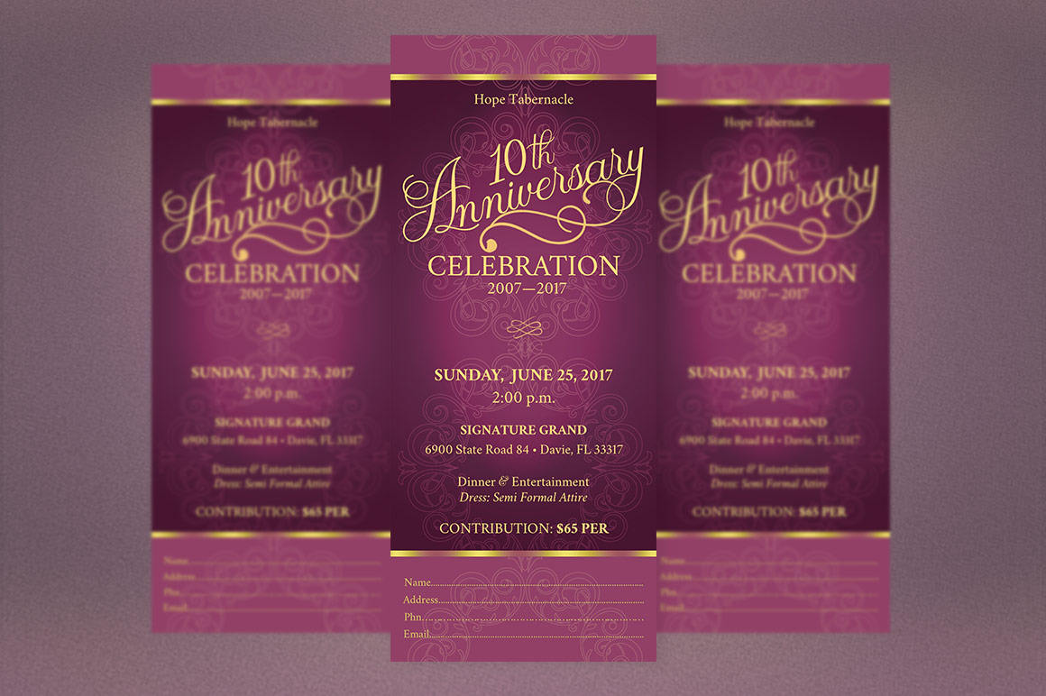Church Anniversary Publisher Word Ticket Bundle example image 8