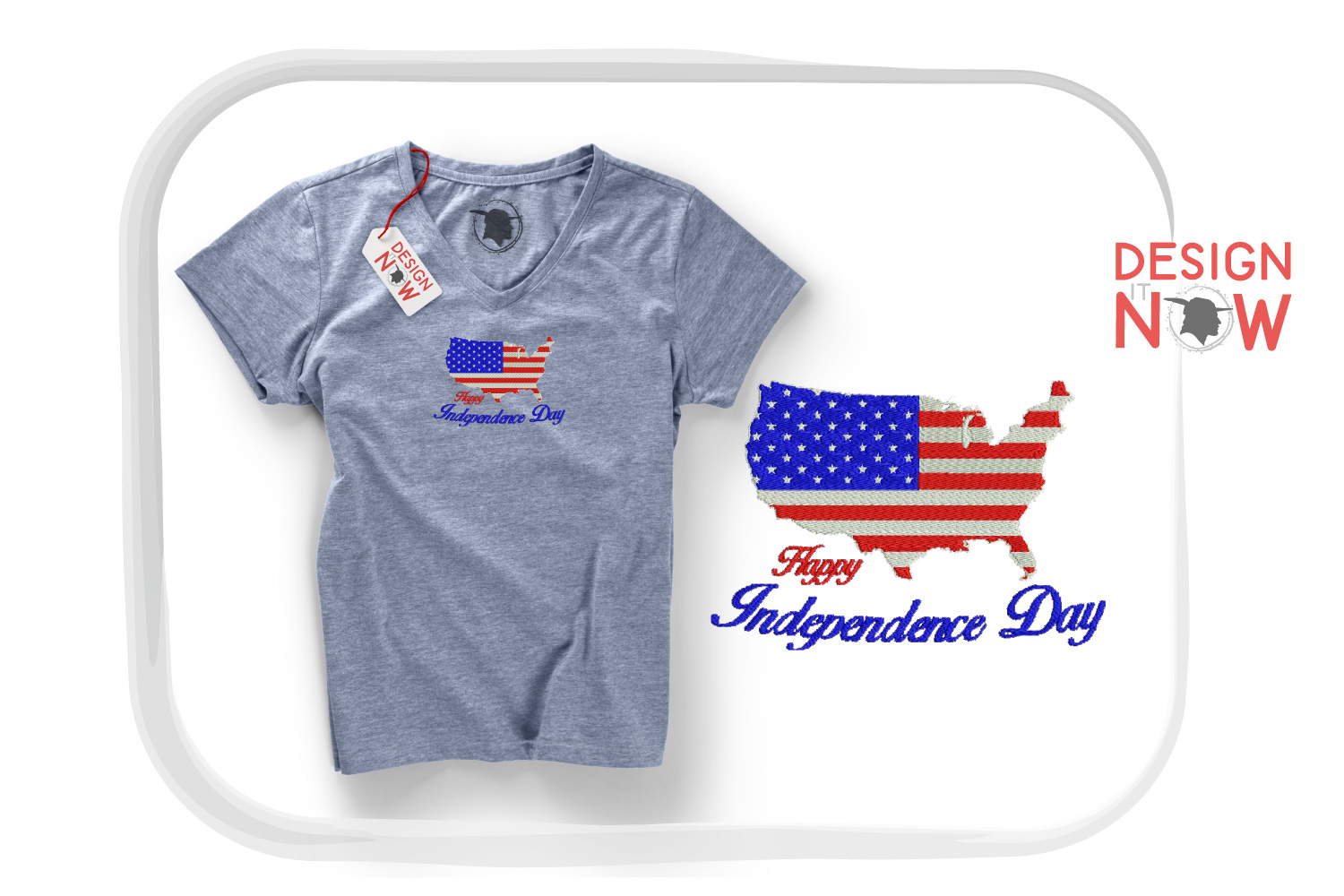 4th Of July Embroidery Design, Independance Day, 4th Of July example image 4