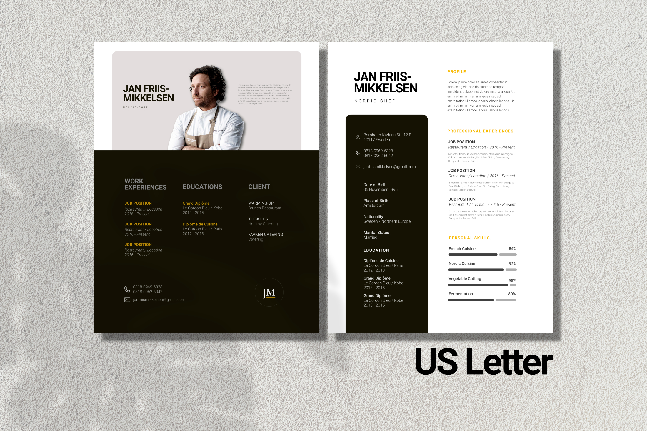 Clean Chef Resume Google Slides example image 5