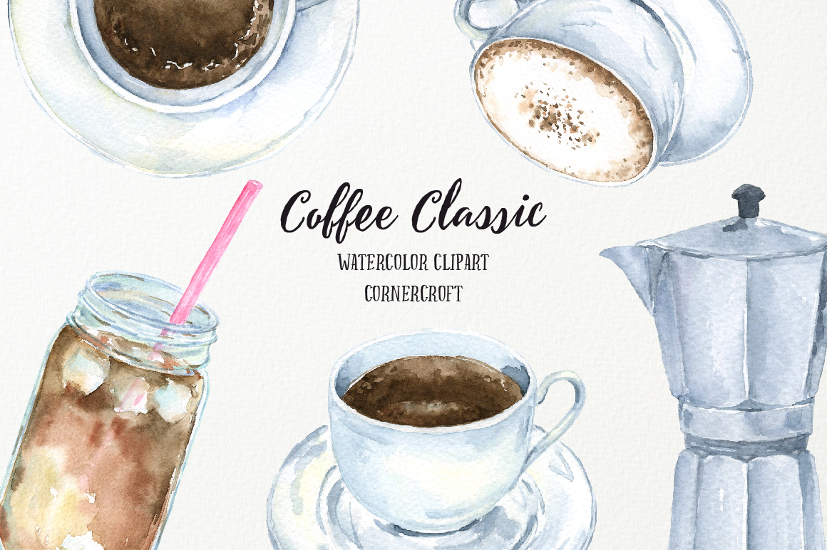 Watercolor Coffee Classic example image 4