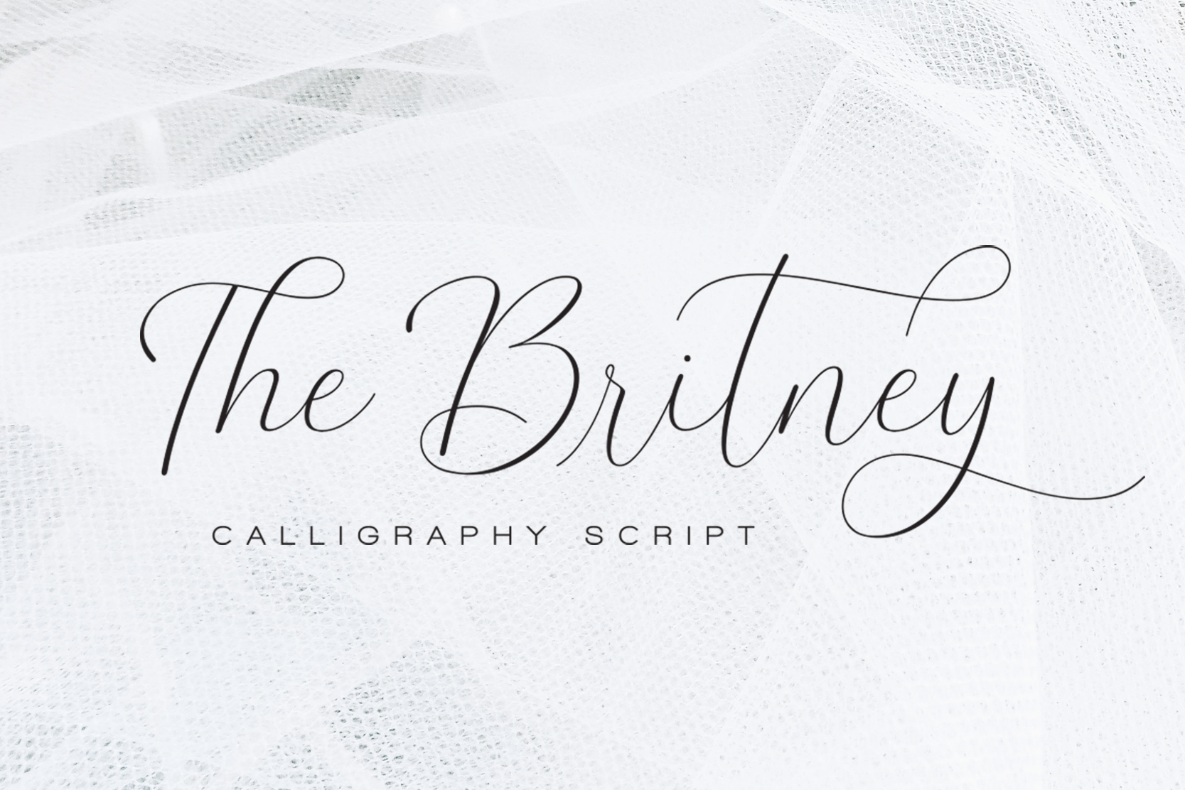 The Britney - Calligraphy Script example image 1
