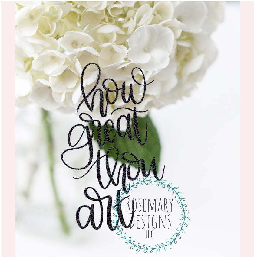 How Great Thou Art - Hand Lettered SVG example image 1