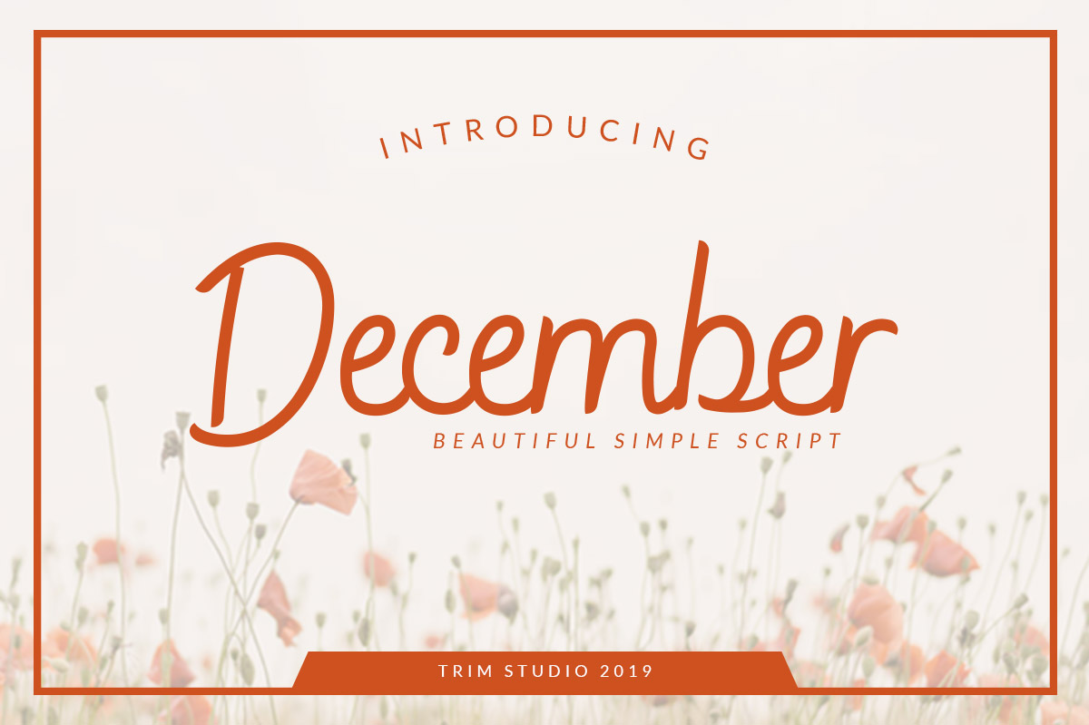 December - Sophisticated Monogram Font example image 1