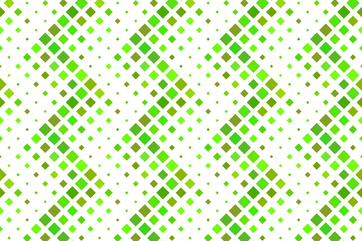 24 Seamless Green Square Patterns example image 6