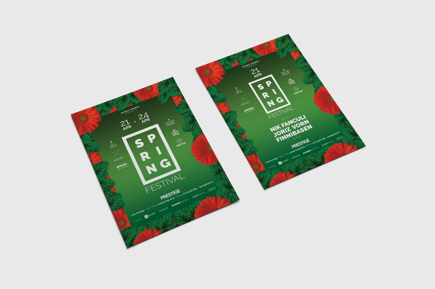 Spring Festival Flyer Template example image 6