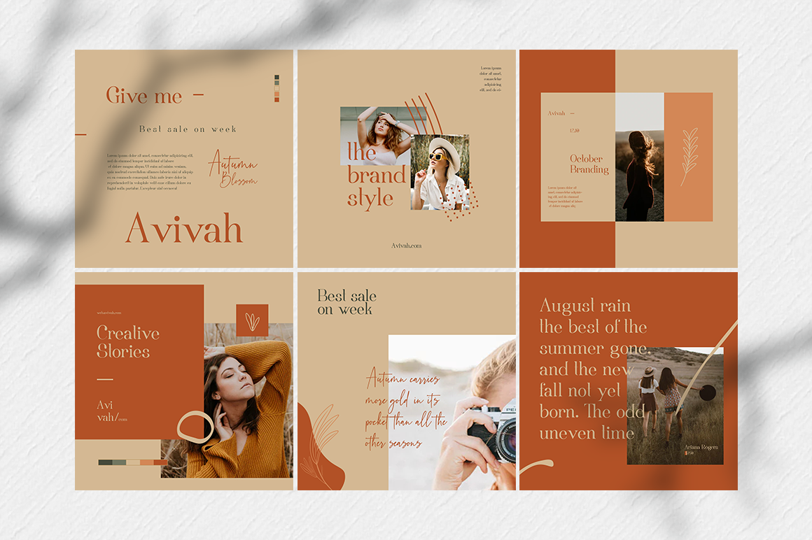 Avivah Autumn Instagram Feed example image 3