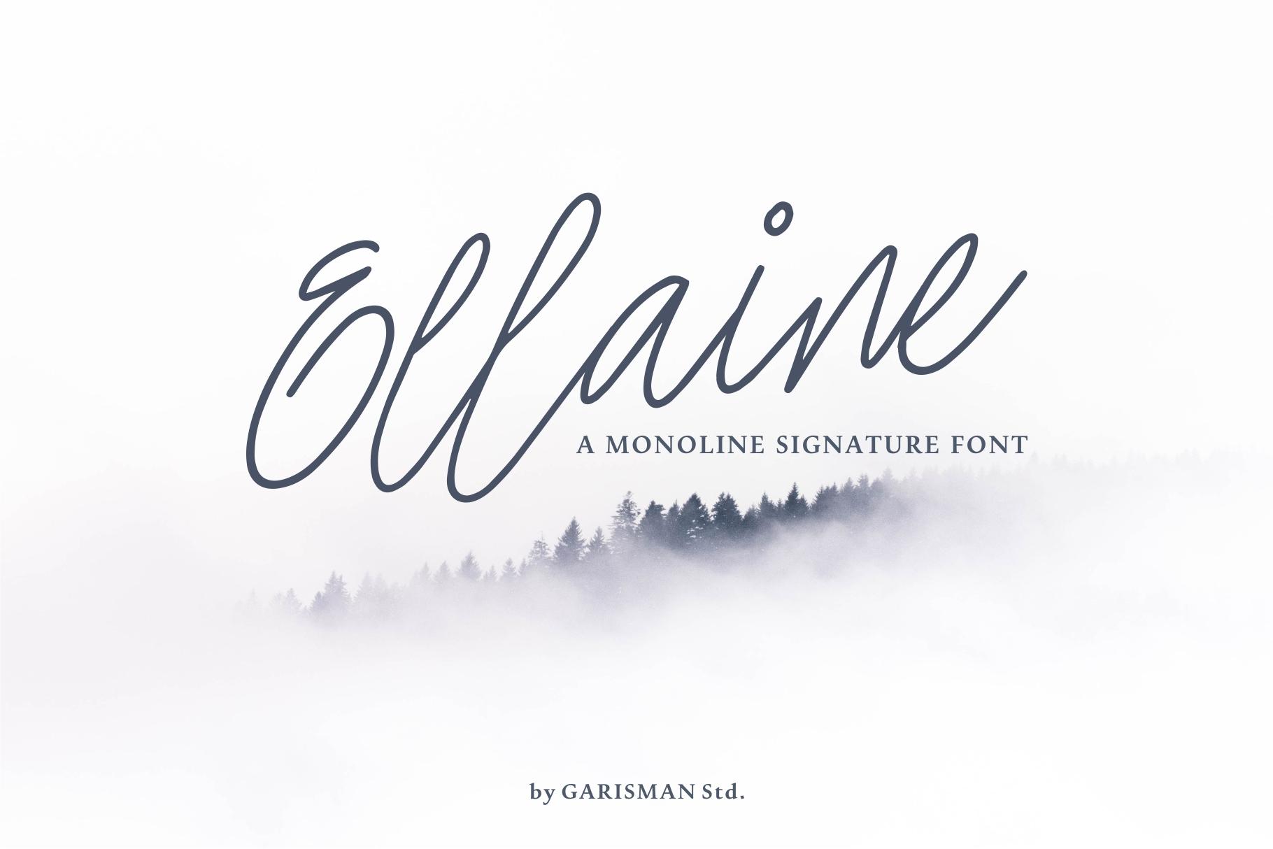 Ellaine Monoline Signature Font example image 1