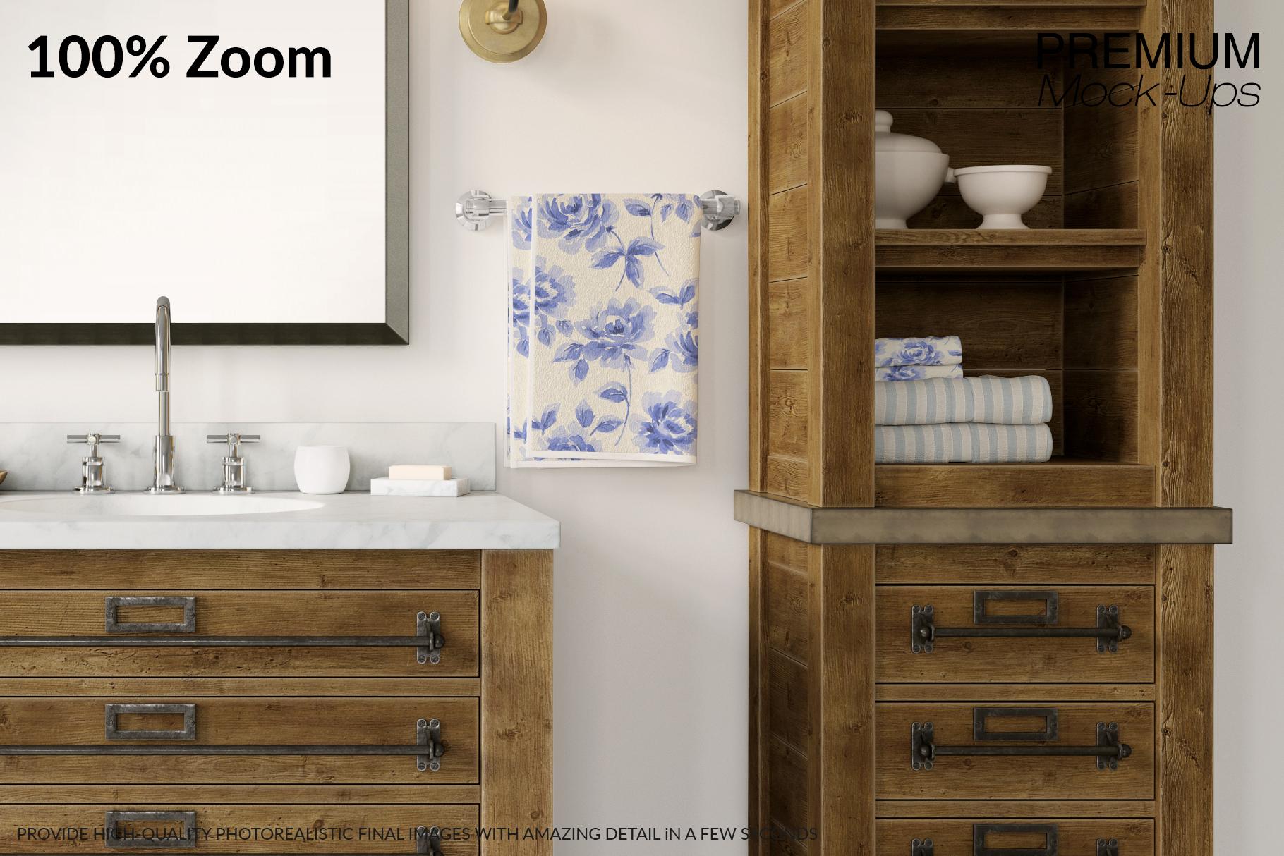 Bath Towels Mockup Set example image 4