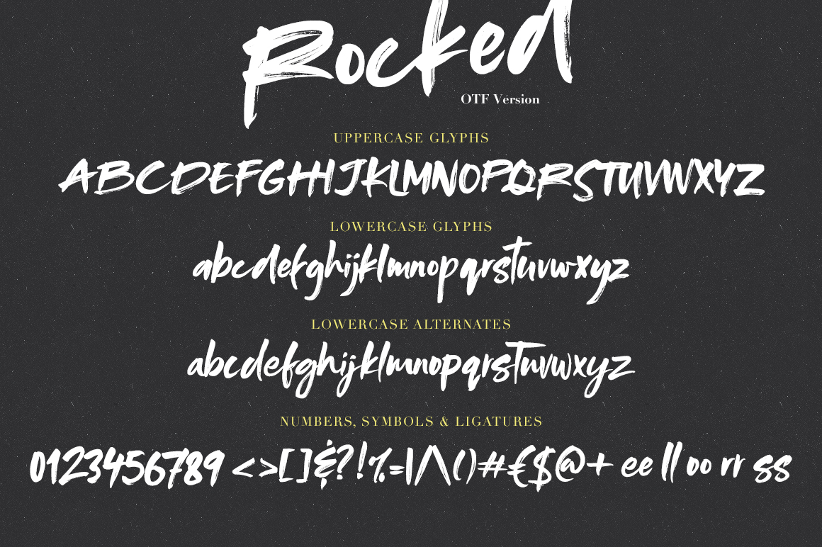 Rocked SVG Font example image 3