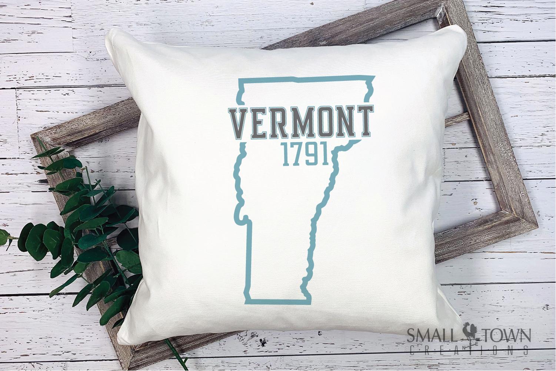 Vermont, Green Mountain State - slogan, PRINT, CUT & DESIGN example image 9