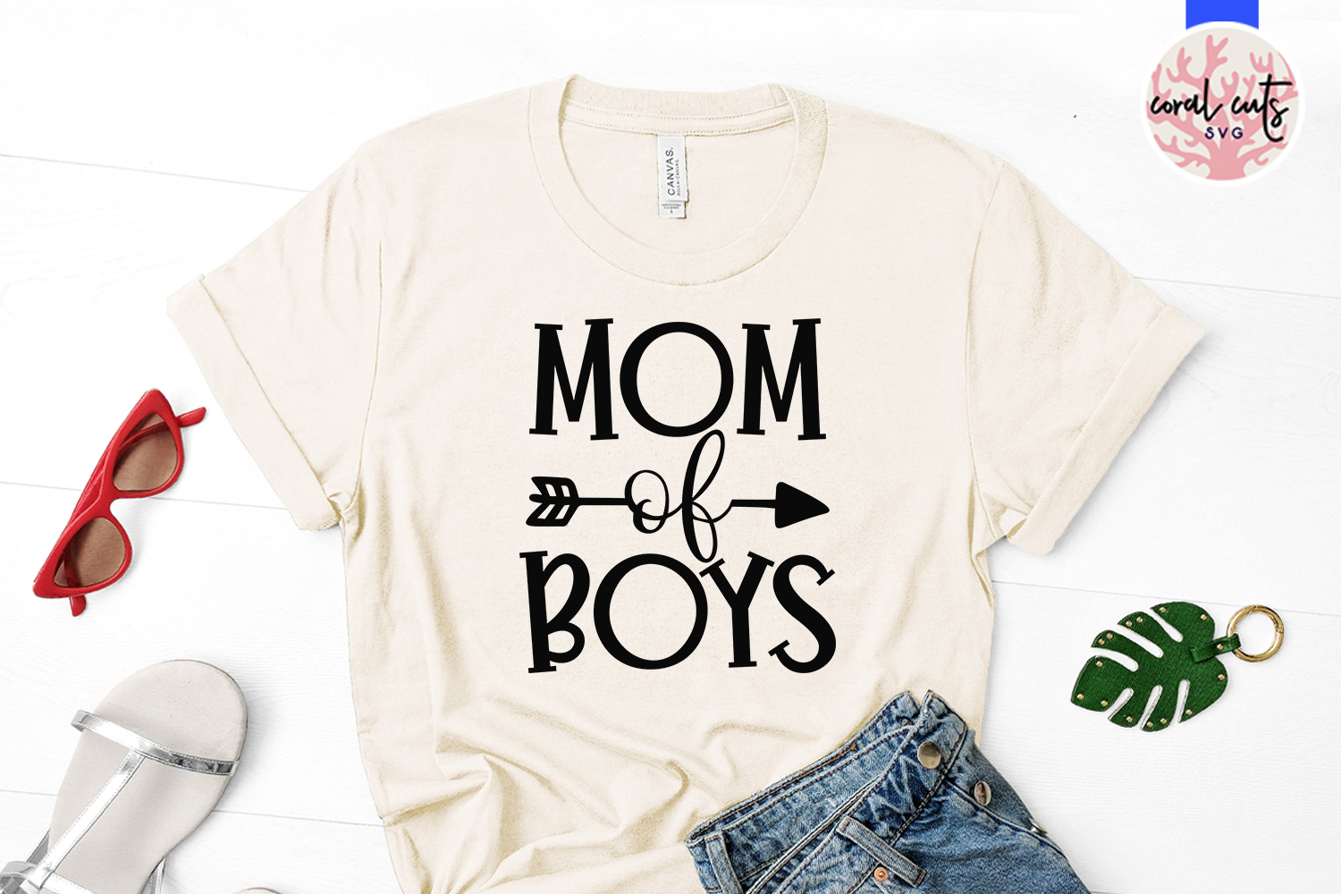 Mother of boys - Mother SVG EPS DXF PNG Cutting File example image 2