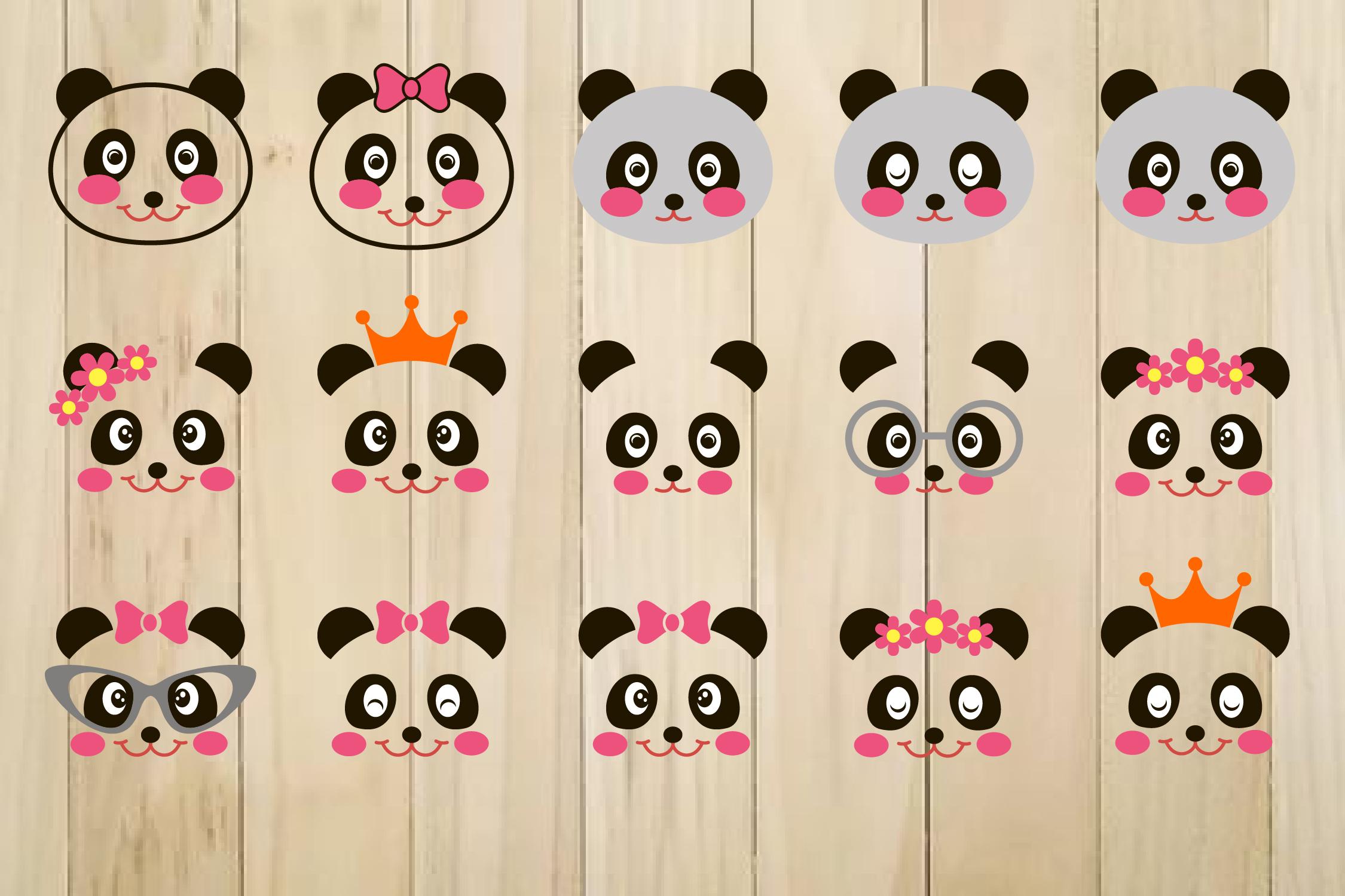 Panda SVG, Panda Face Svg, Panda Clip Art, Panda Head Svg example image 1